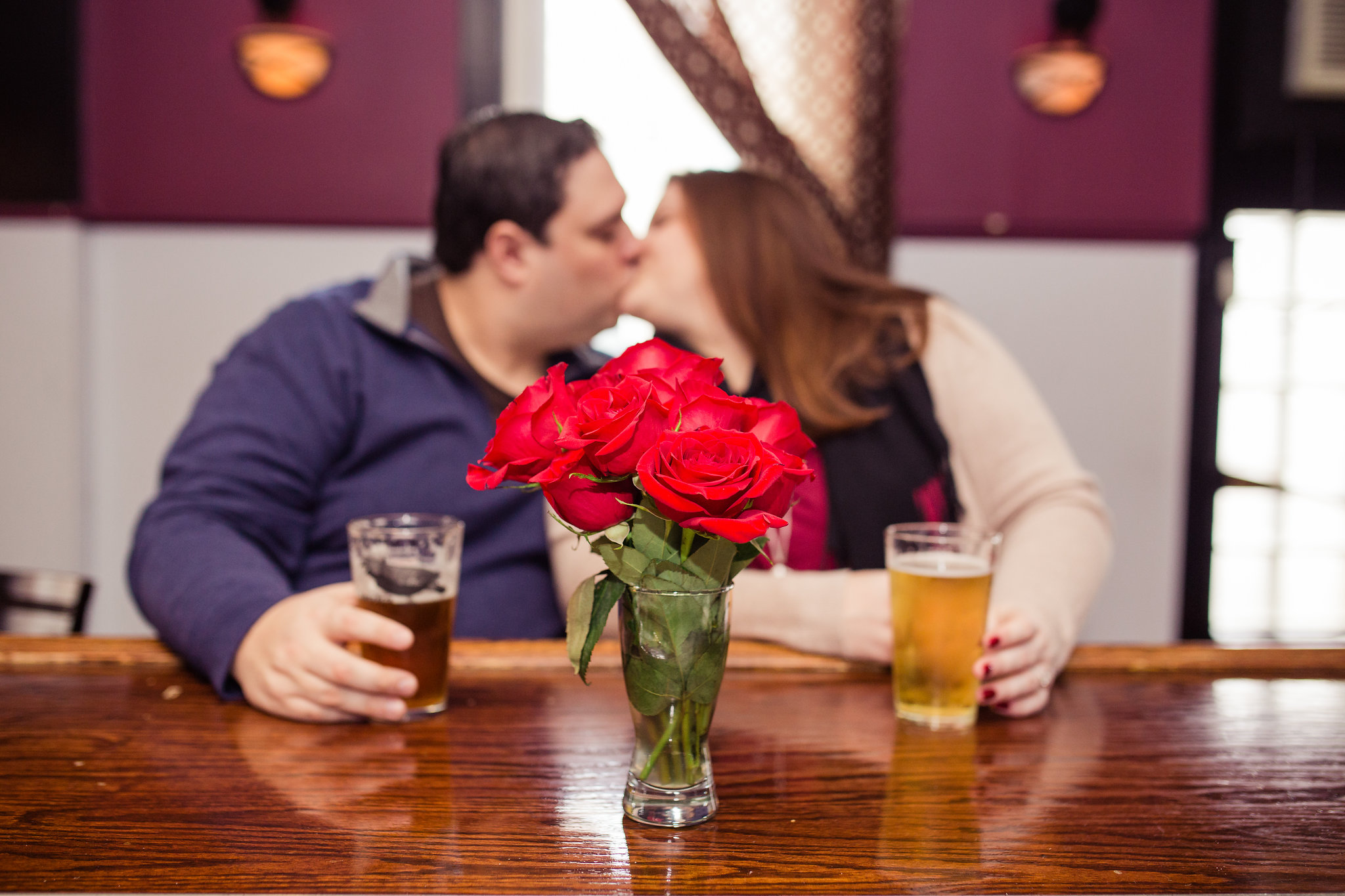 Kiss Roses Beers Engagement