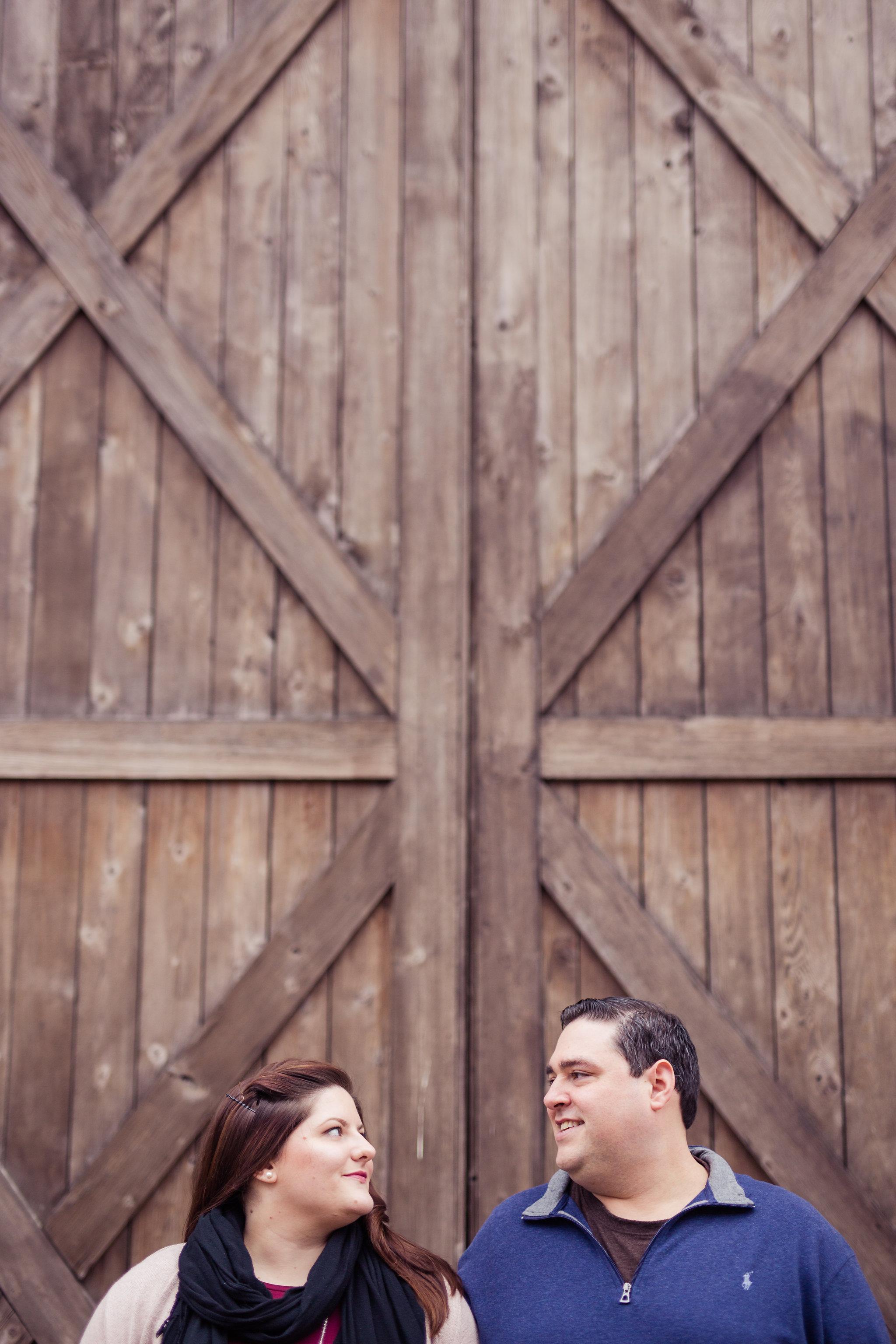 Wood Door Engagement