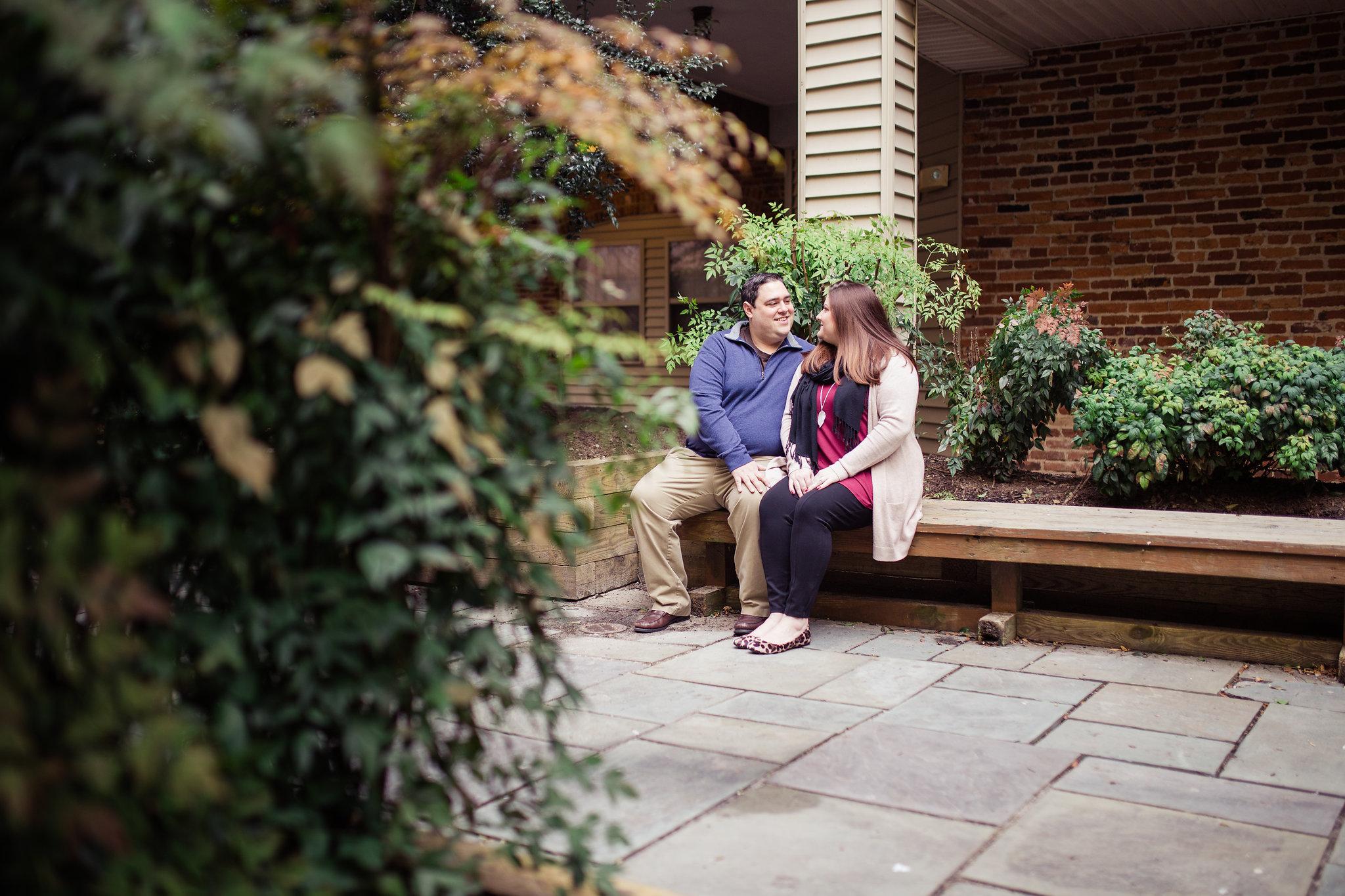 Romantic Downtown Engagement Photo