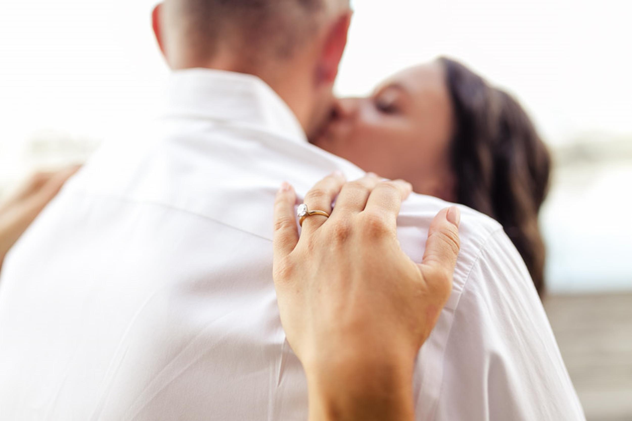 Kissing Engagement Ring