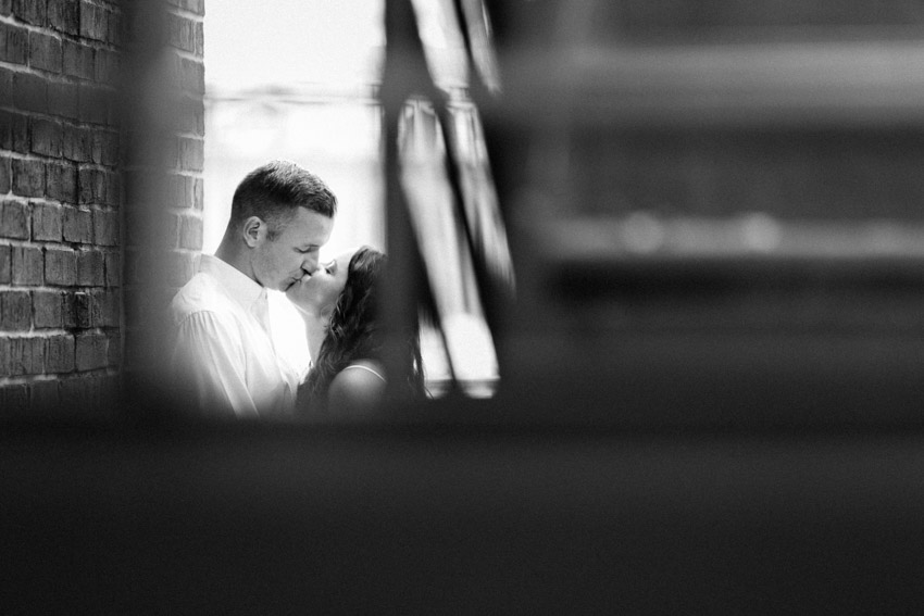 Cuate and romantic engagement photography session in Fells Point Baltimore City.