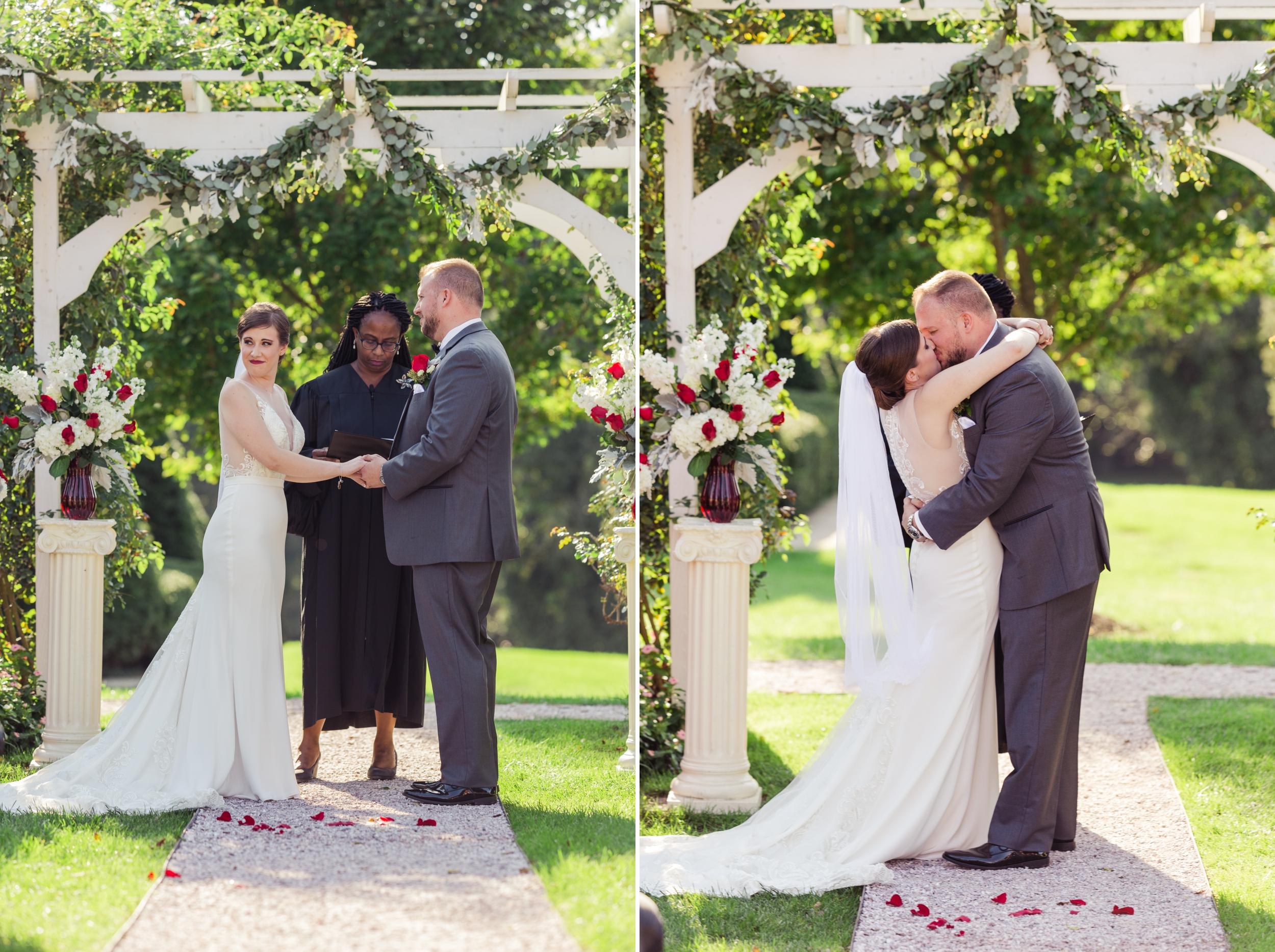 First Kiss Garden Wedding
