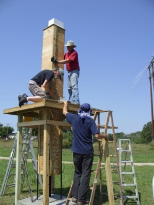 Building the Judy Ing Memorial Chimney Swift Tower