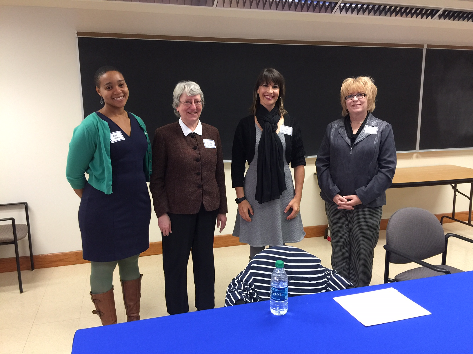 From left to right: Alpha Chapter Officers 2016-2017 Emily Knox, Faculty Advisor; Linda Smith, Secretary/Treasurer; Kim Anderson, President; Melody Allison, Past President