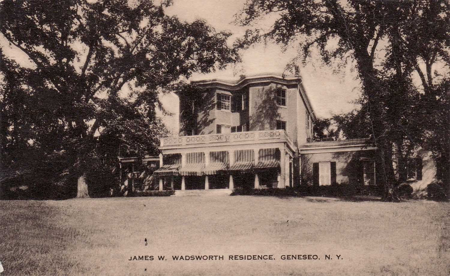 c. 1909 West face of Hartford House Courtesy of Livingston County Historian