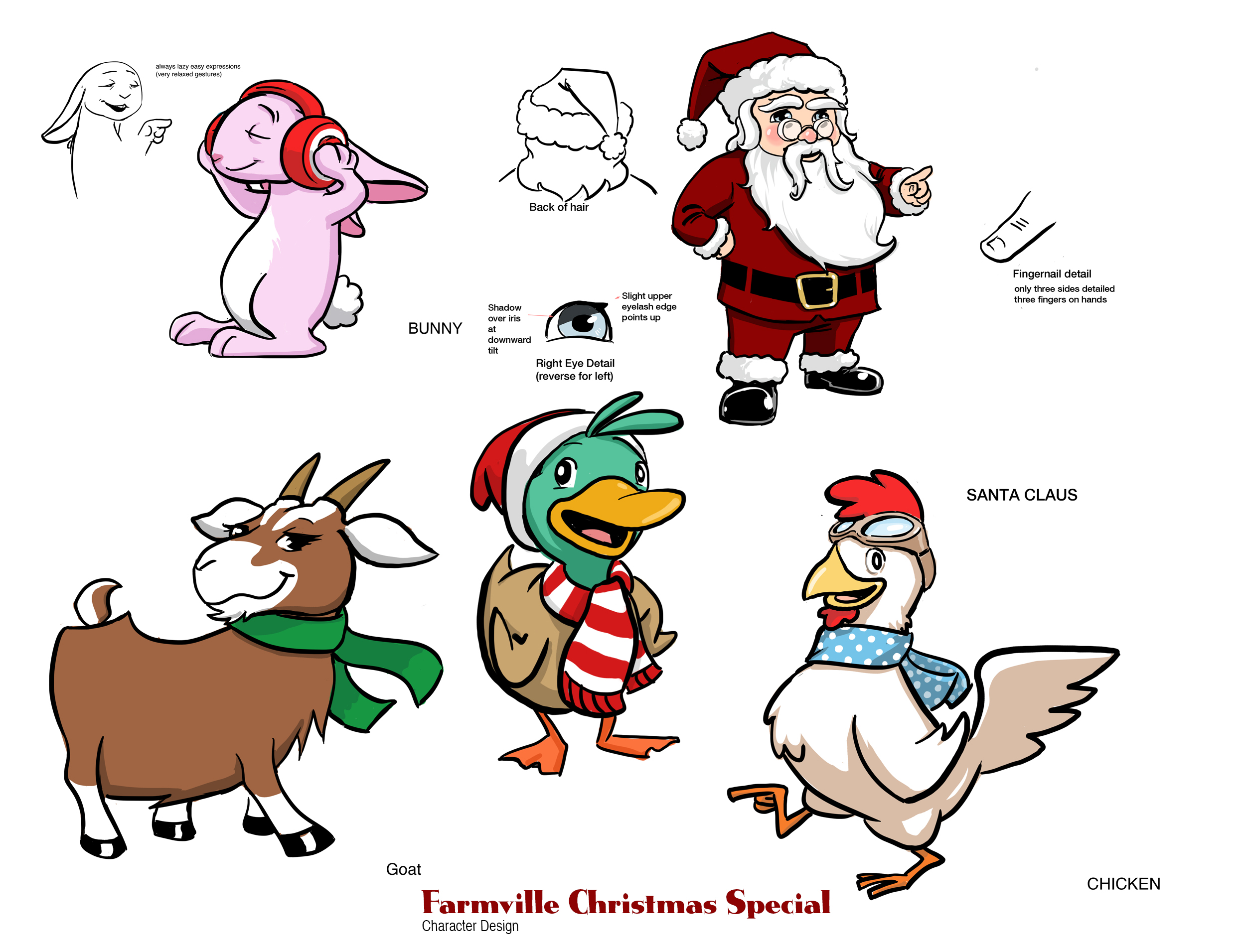 Character Design for Farmville Xmas Special- Zynga