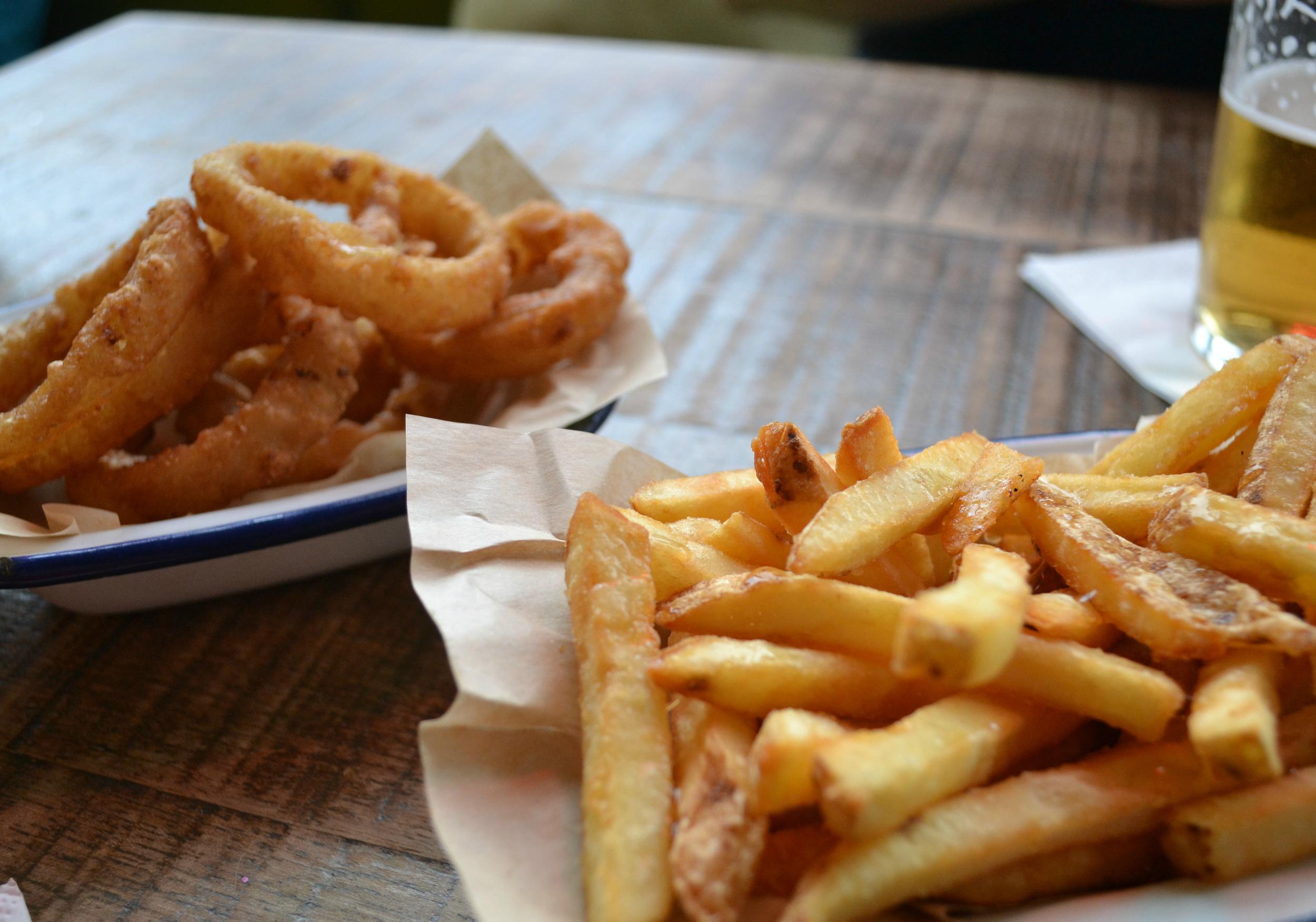 Revolution Aberdeen chips onion rings