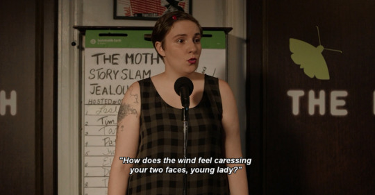 Loved this shade from Hannah Horvath in the last episode of Girls.