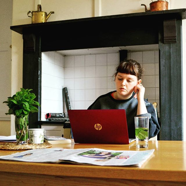How I usually look when I'm writing...only I'm not usually in a room with an aga. My task for the next week is to essentially log my abuse all over again, which I haven't done since my court case. 🤞 . .  #WriteNowLive #writersofinsta #amediting #amwriting #country #countryside #countryhouse #workingclassstories #workingclasswriters #author #domesticabuse