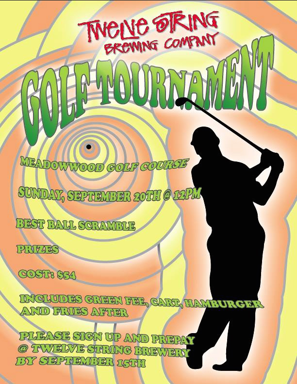 Twelve String Brewing GOLF TOURNAMENT on September 20th