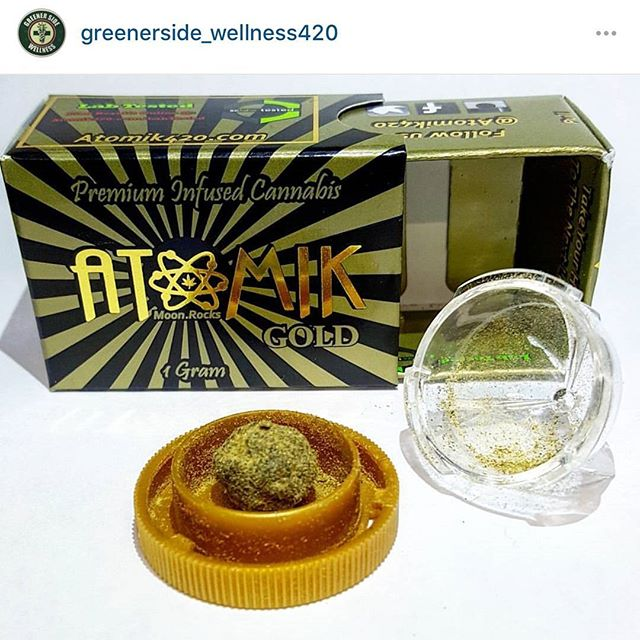 Come and get it. @greenerside_wellness420 has the @atomik420 @moon.rocks available now. 🔥 in the bowl! #atomik #atomik420 #atomikmoonrocks #moonrock  #poweredbyweedmaps #Hightimes #cannabiscup #award #winning #moonrocks #infusedcannabis #sclabs #theclear #popnaturals #weedmaps #legalize #cannabis #420 #marijuana #mmj #nugporn #strongaf #takeyourhightothenextlevel #rewardyourself  #⚛ #greener #side #wellness