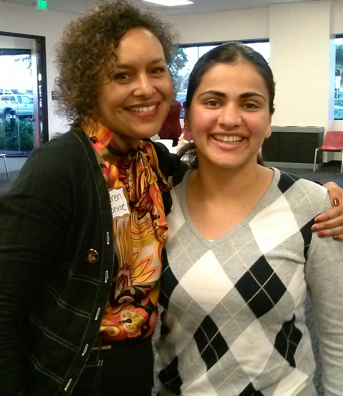 Alameda County Superintendent Karen Monroe and Aisha