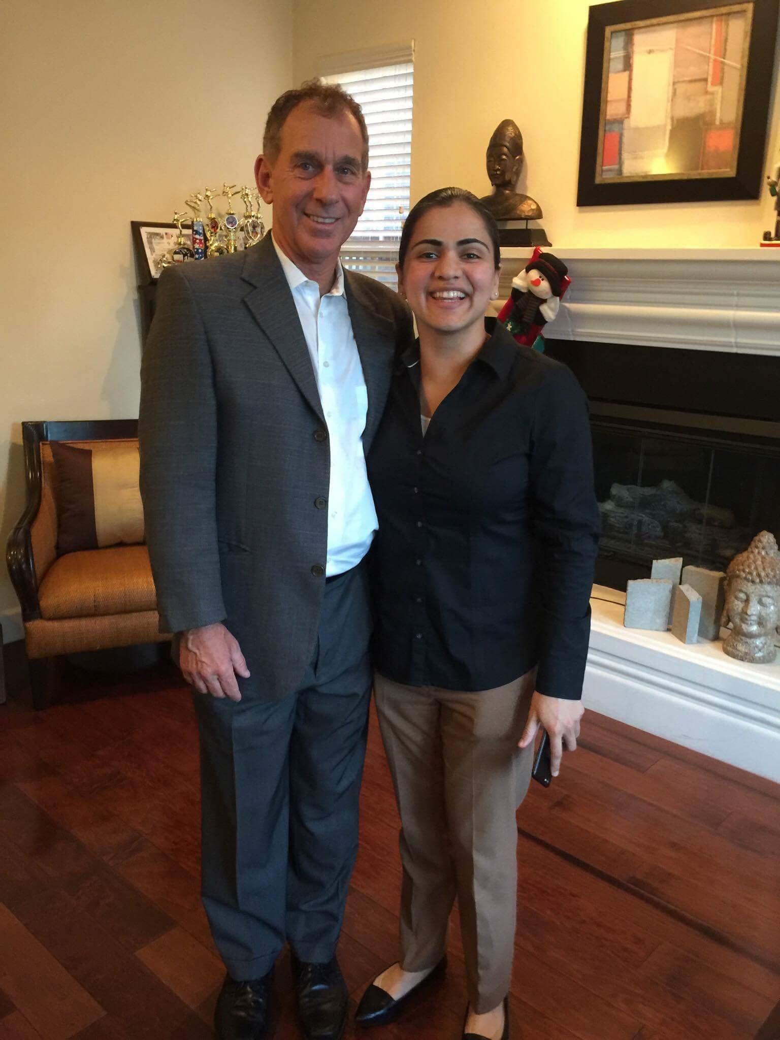 Senator Weickowski and Aisha