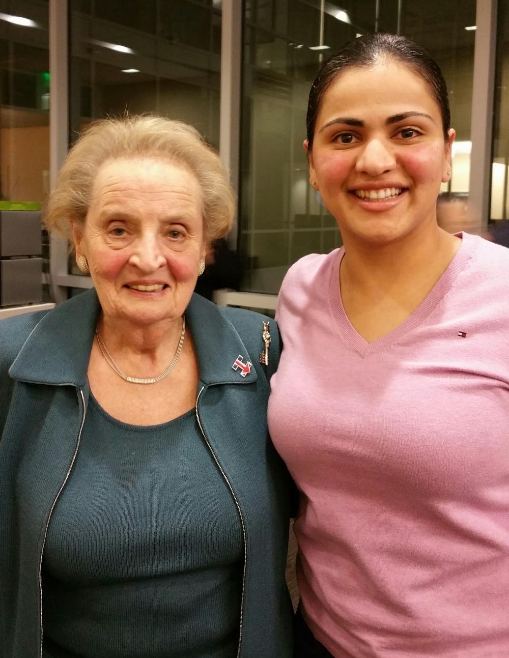 U.S. Secretary of State Madeleine Albright & Aisha