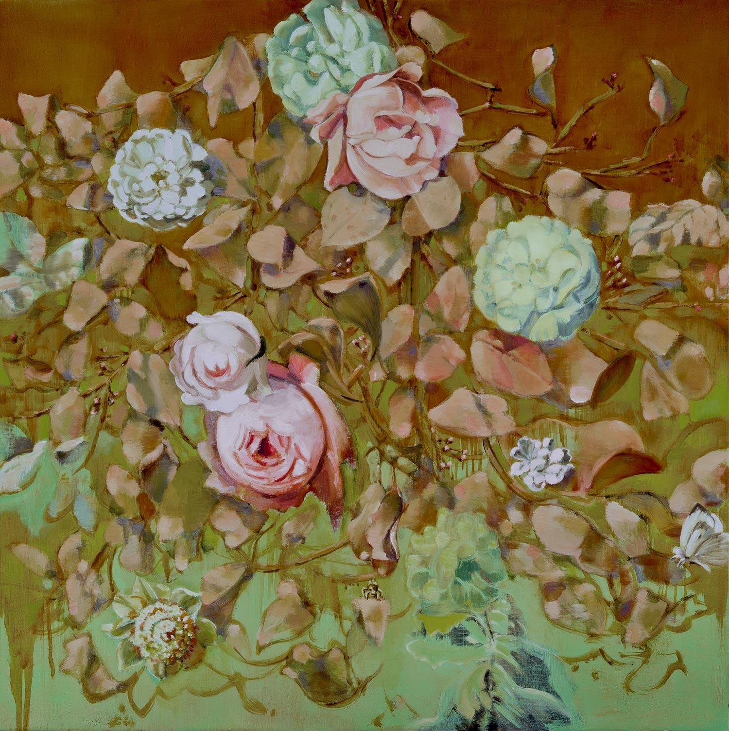 "RESTORATION  oil on panel  30 x 30"" 2011"