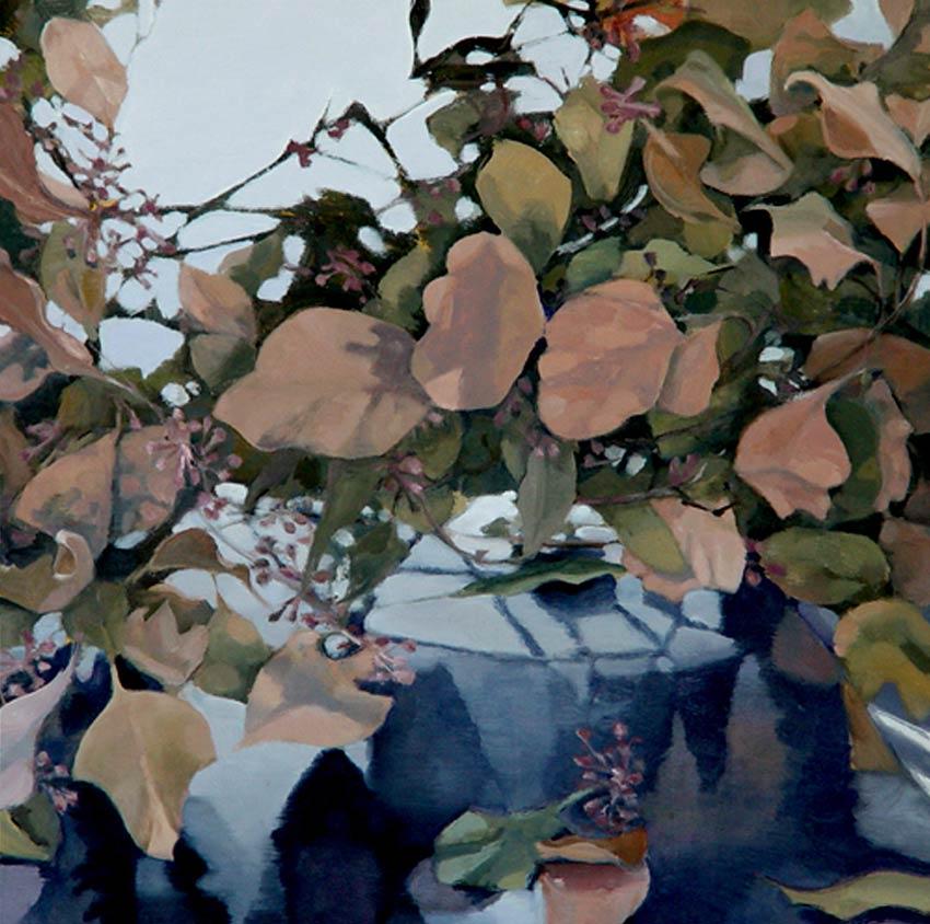 """BRIGHT LIGHT  oil on gessoed panel  15 x 15""""  2005"""