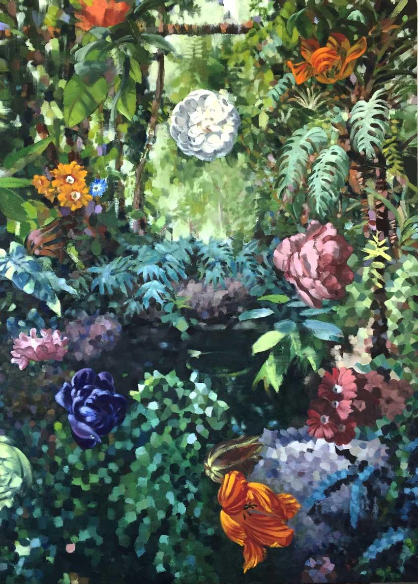"LA GRANDE SERRE  oil on canvas  50 x 36""  2017  Andra Norris Gallery, Burlingame, CA"