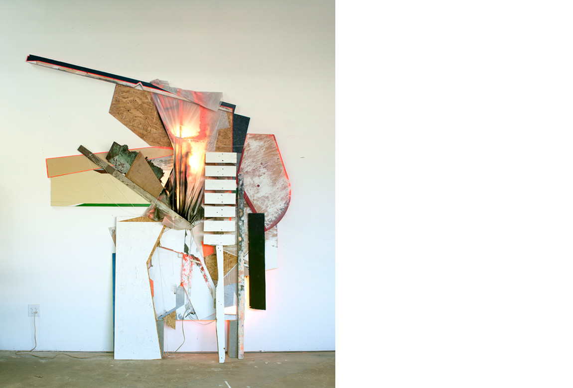 WALL WORK NO. 1 (CAMPBELL STREET)    mixed media, 123 x 94 x 14 inches, 2012