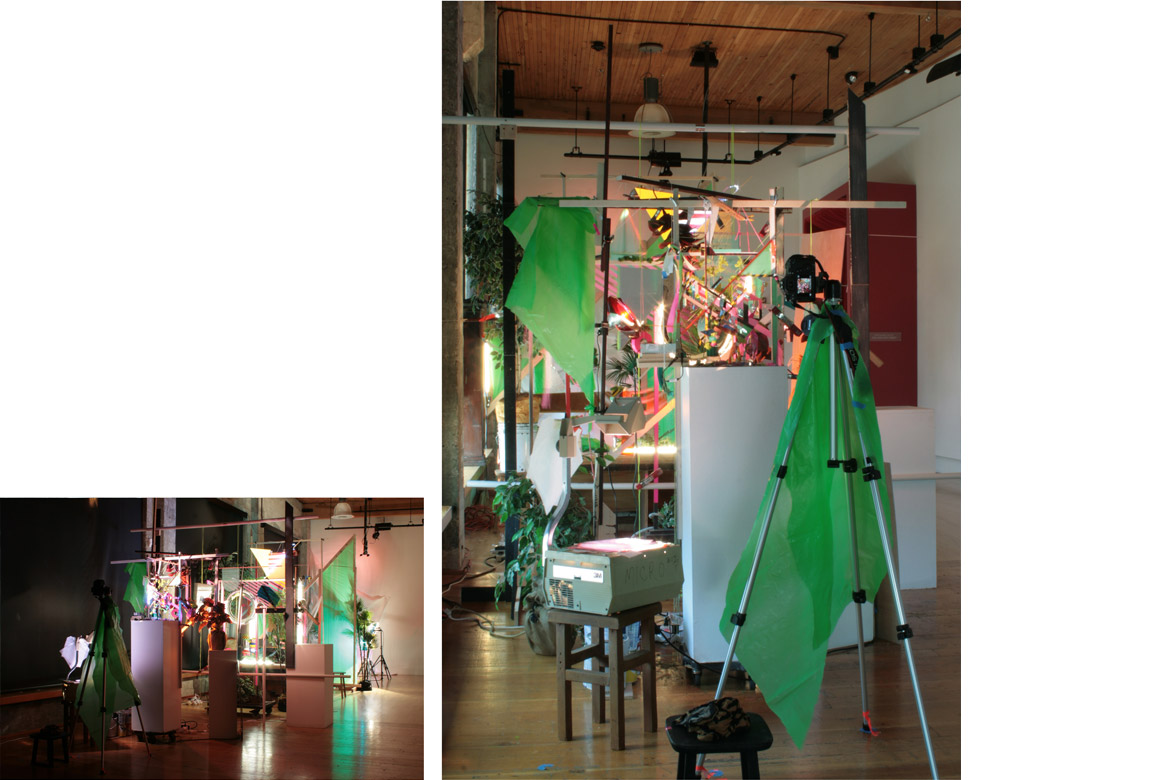 ACCUMULATION AT 12TH & MARION: MAY 7 – JUNE 19, 2015 (VERSION 1)    site-specific mixed media installation produced for stop-motion video, The Hedreen Gallery (Seattle University), 123 x 106 x 485 inches, 2015  Project funded with a Direct Grant for Visual Artist from The Harpo Foundation