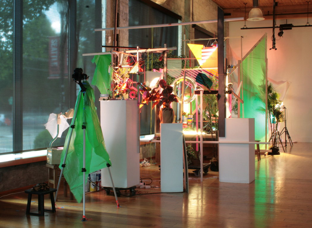 ACCUMULATION AT 12TH & MARION: MAY 7 – JUNE 19, 2015 (VERSION 1)    site-specific mixed media installation produced for stop-motion video, The Hedreen Gallery (Seattle University), 123 x 106 x 485 inches, 2015