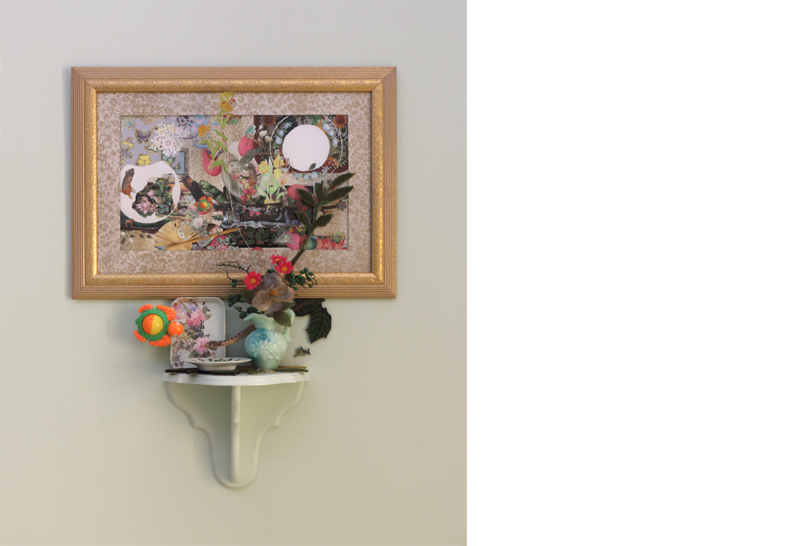 a novel ecosystem constructed with pseudo satisfiers - Tableau set at 1:25    digital print with mixed media, dimensions variable, 2018
