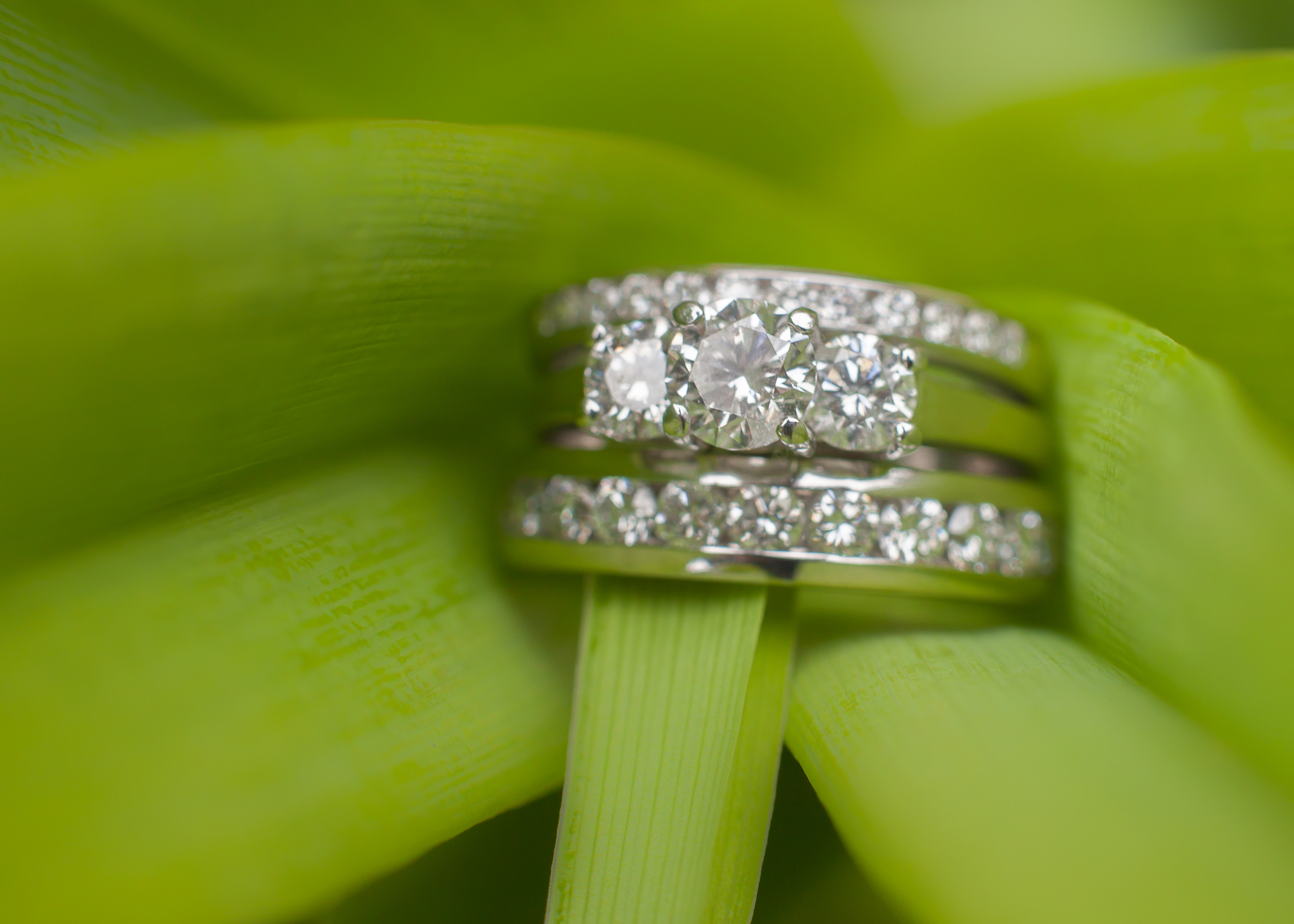 Kay Jewelry Platinum and White Gold Wedding Set