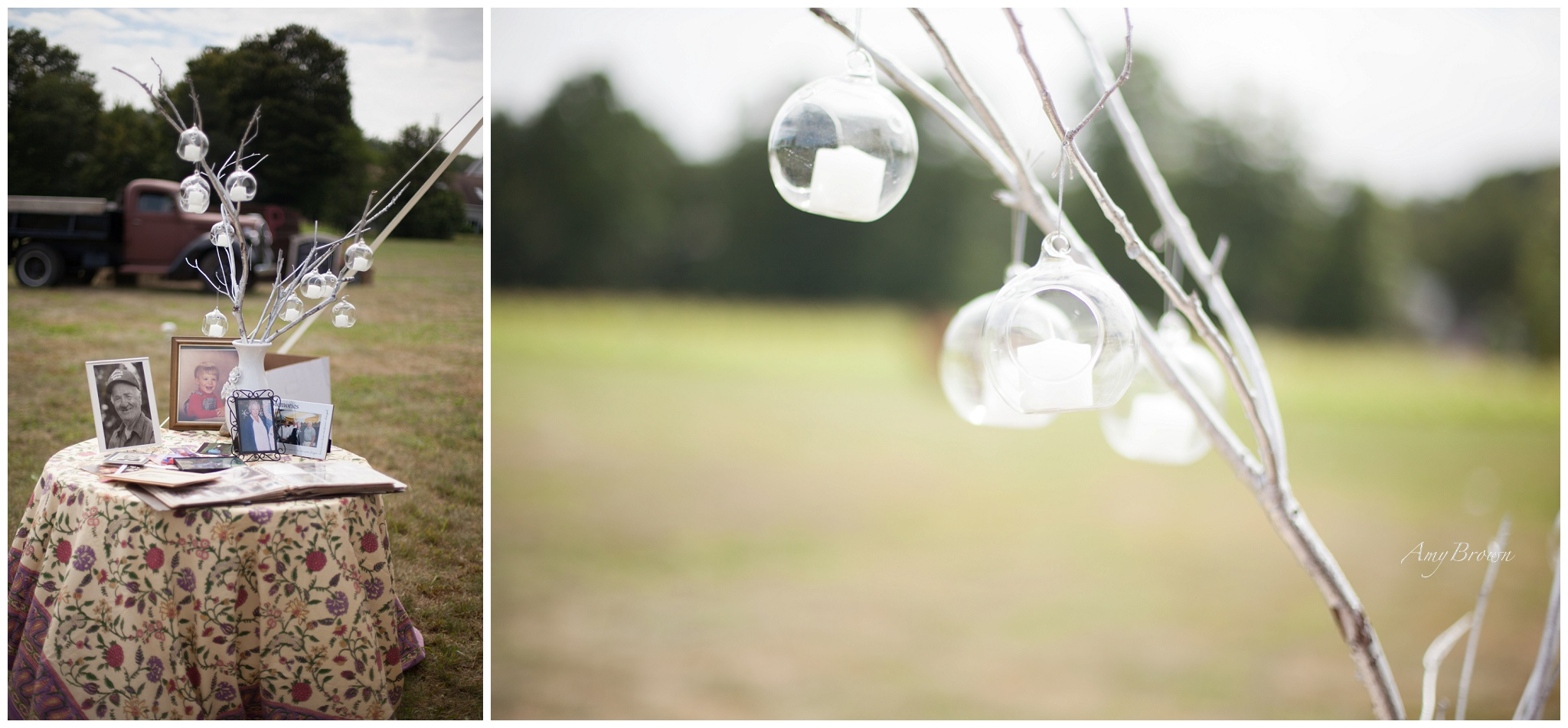 Southern NH Wedding Photographer | DIY wedding decor | Amy Brown Photography