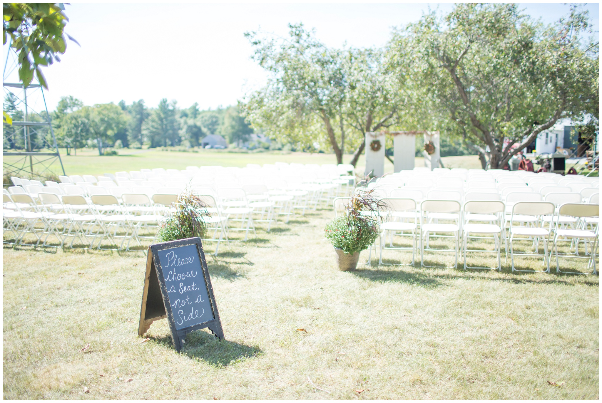 Seacoast NH Wedding Photographer |  DIY Wedding Decor  | Wedding Aisle Sign | Amy Brown Photography