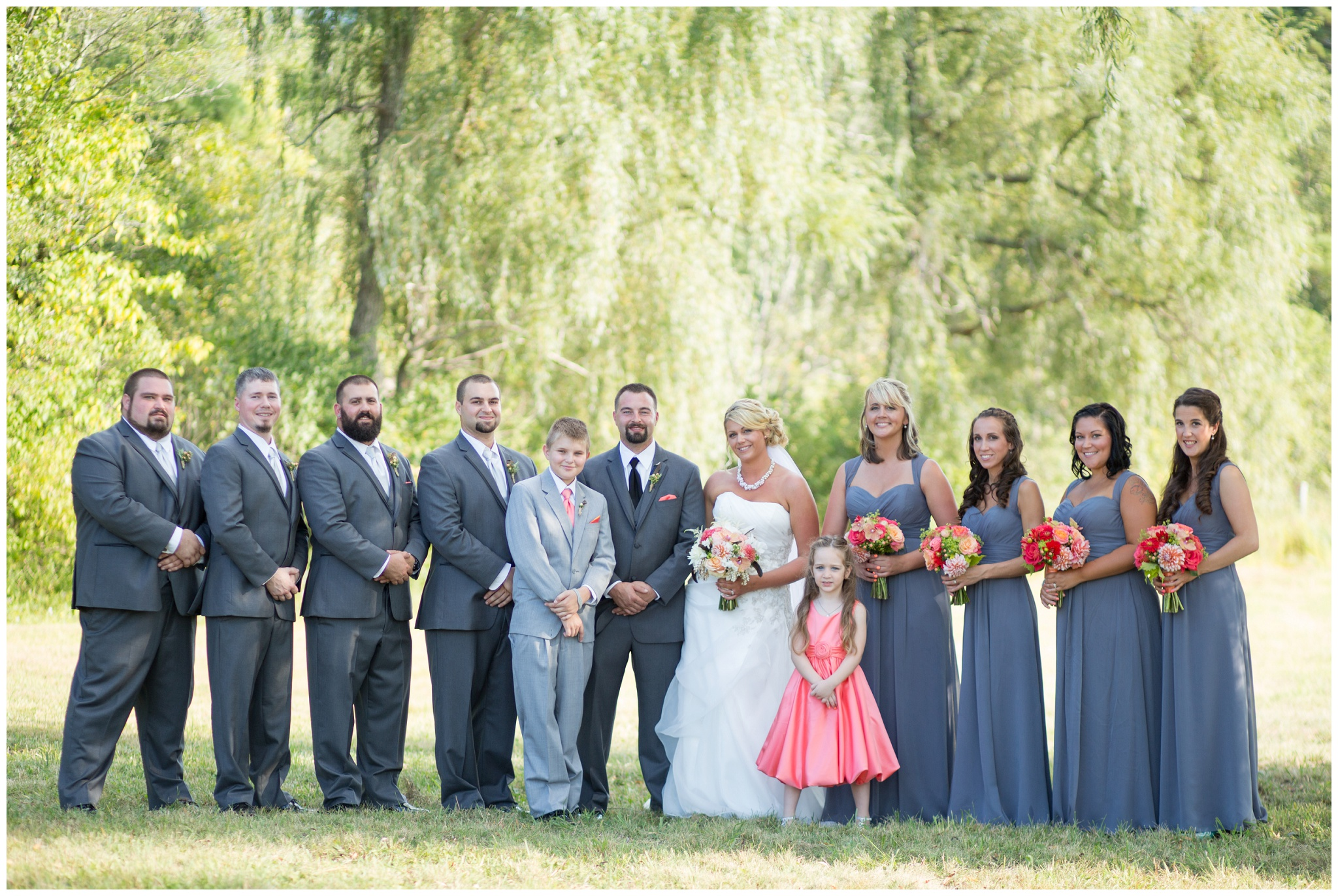 Seacoast NH Wedding Photographer | Pink Grey wedding colors | Amy Brown Photography