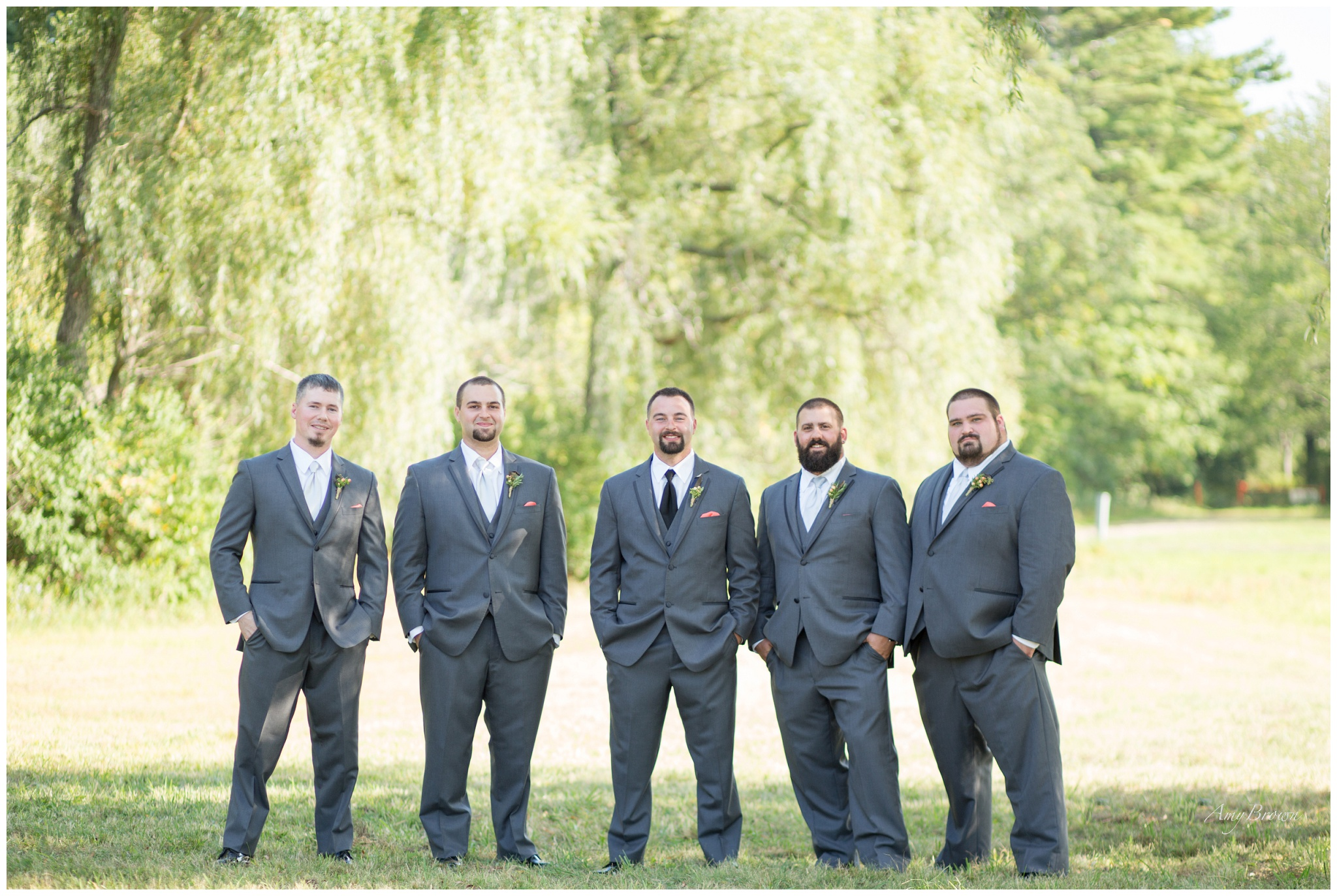 Seacoast NH Wedding Photographer | grey wedding suit | Nh Farm Wedding | Newfields NH | Amy Brown Photography