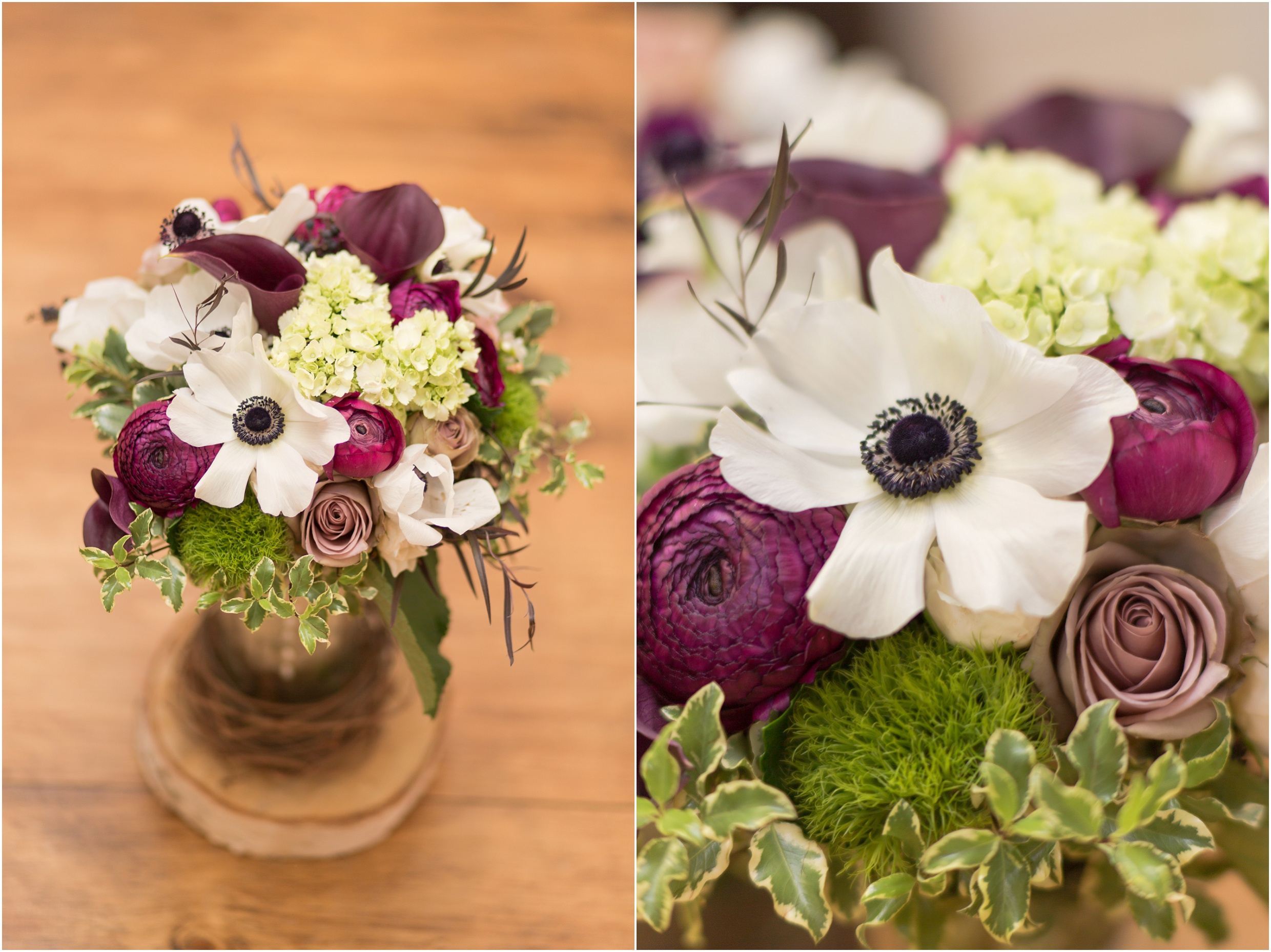 New Hampshire Wedding Photographer | Flag Hill Winery Wedding Bouquet Poppies and Ronoculous | Flag Hill winery