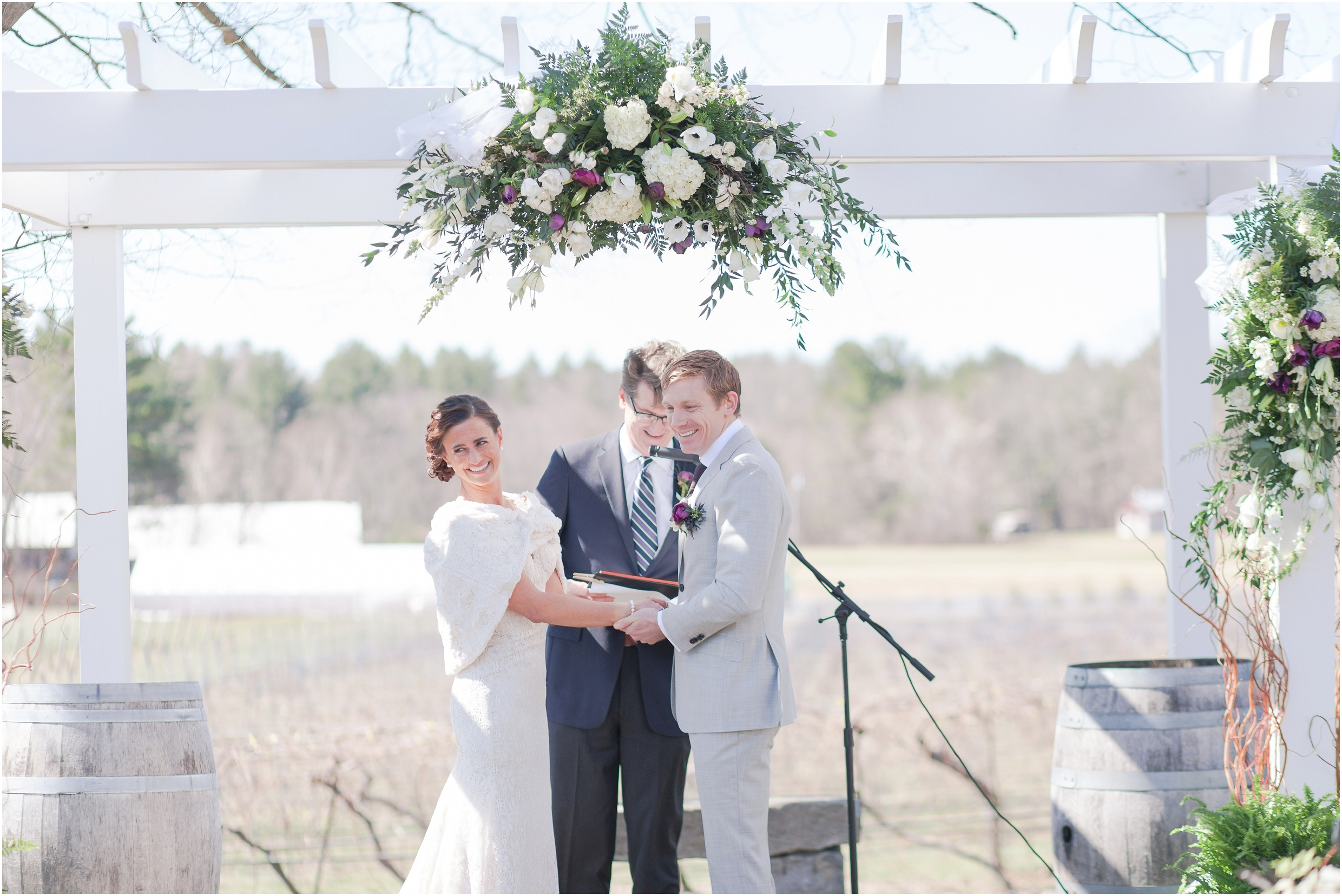 Southern New Hampshire Wedding Photographer  | Surprise Wedding At Flag Hill Winery Lee, New Hampshire Spring Wedding | Amy Brown Photography