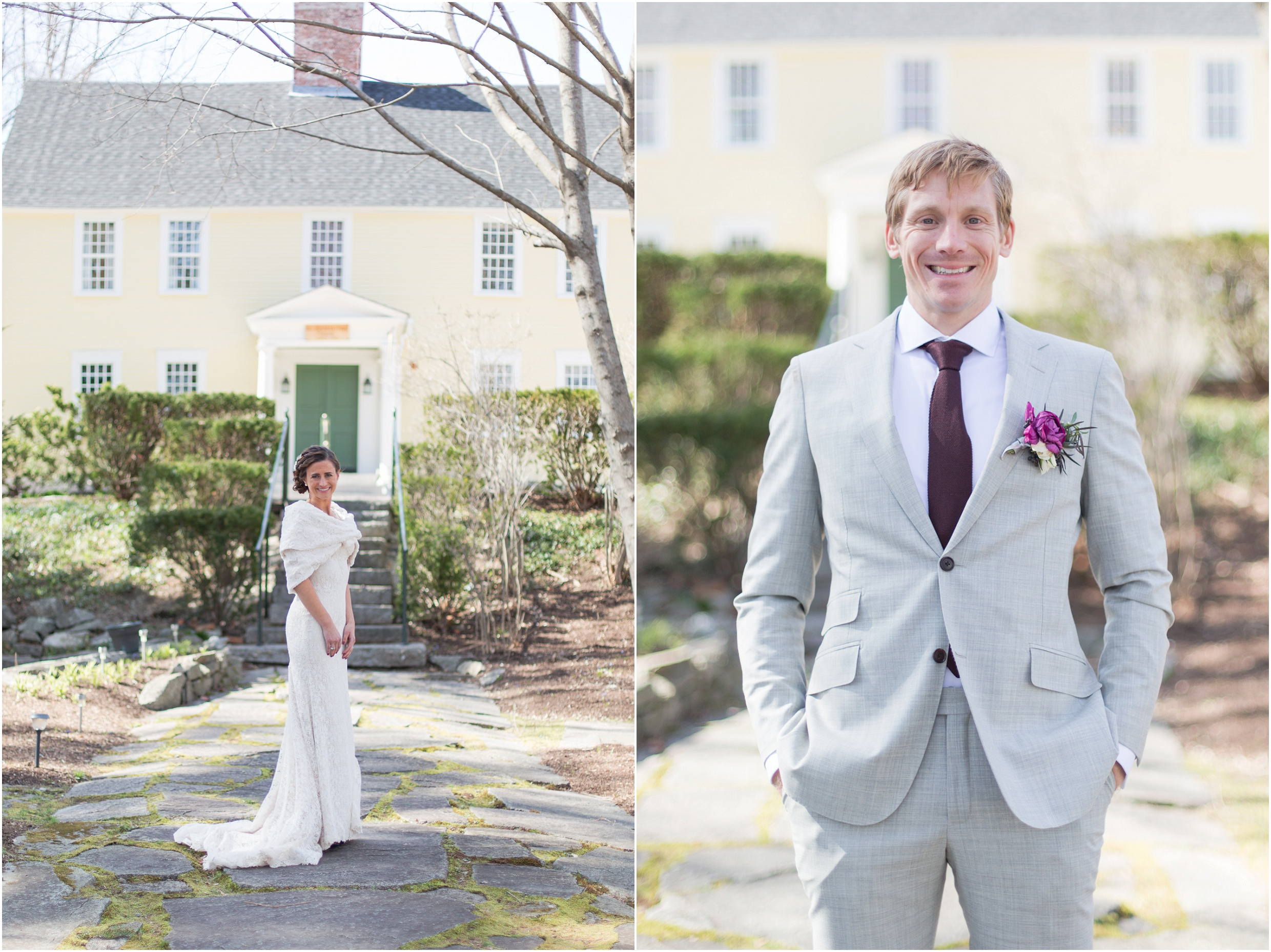 Southern New Hampshire Wedding Photographer  | Bride and Groom Three Chimneys Inn Durham New Hampshire | Amy Brown Photography