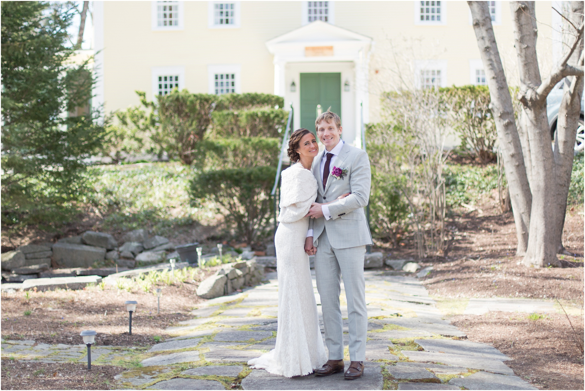 Southern New Hampshire Wedding Photographer  | Bride and Groom Three Chimneys Inn Durham New Hampshire UNH | Amy Brown Photography