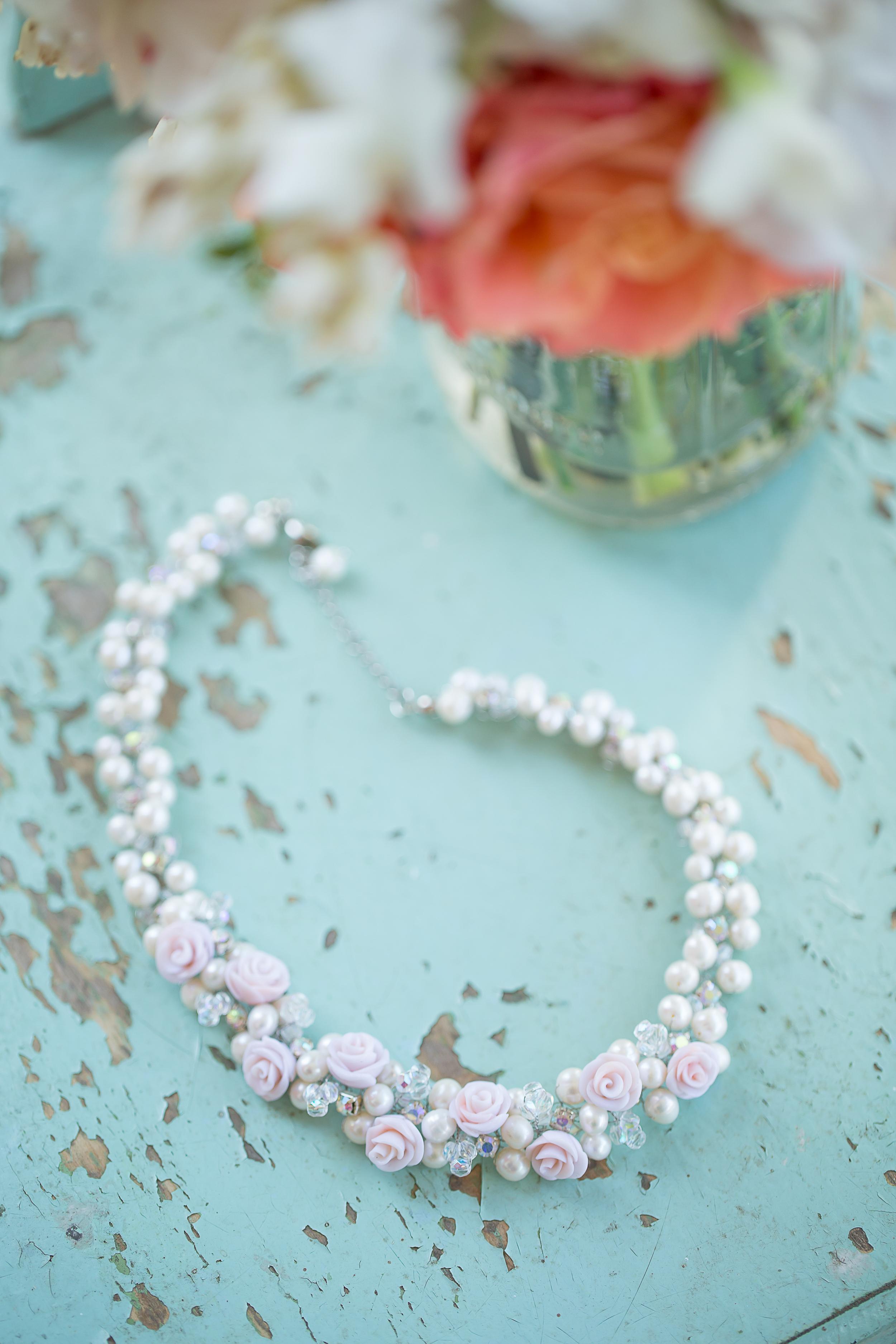 Wedding Jewelry | Pearls | Aqua Wedding Scheme | Am Brown Photography