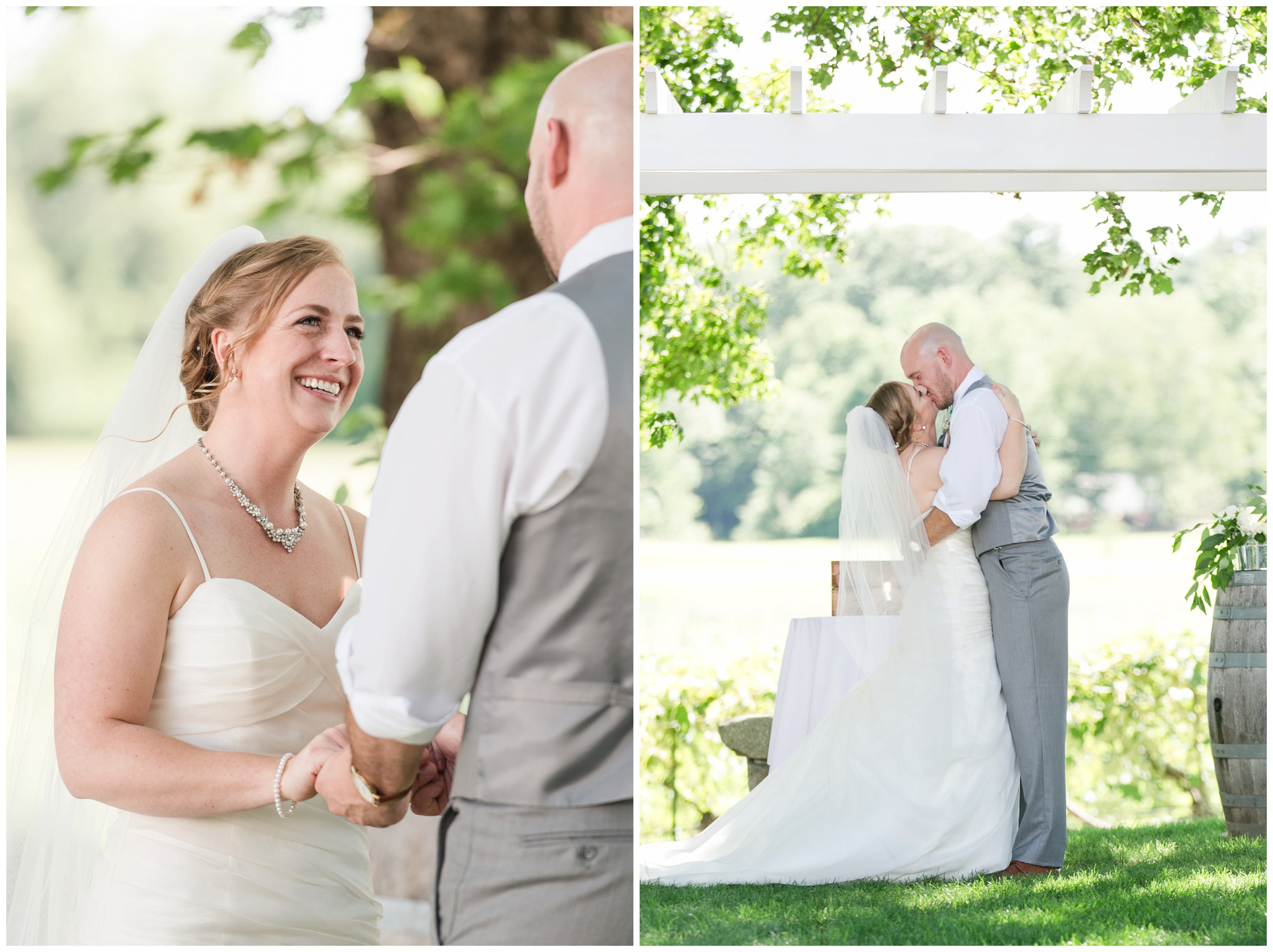 New Hampshire Wedding Photographer | Flag Hill Winery | June Vineyard Wedding | Amy Brown Photography