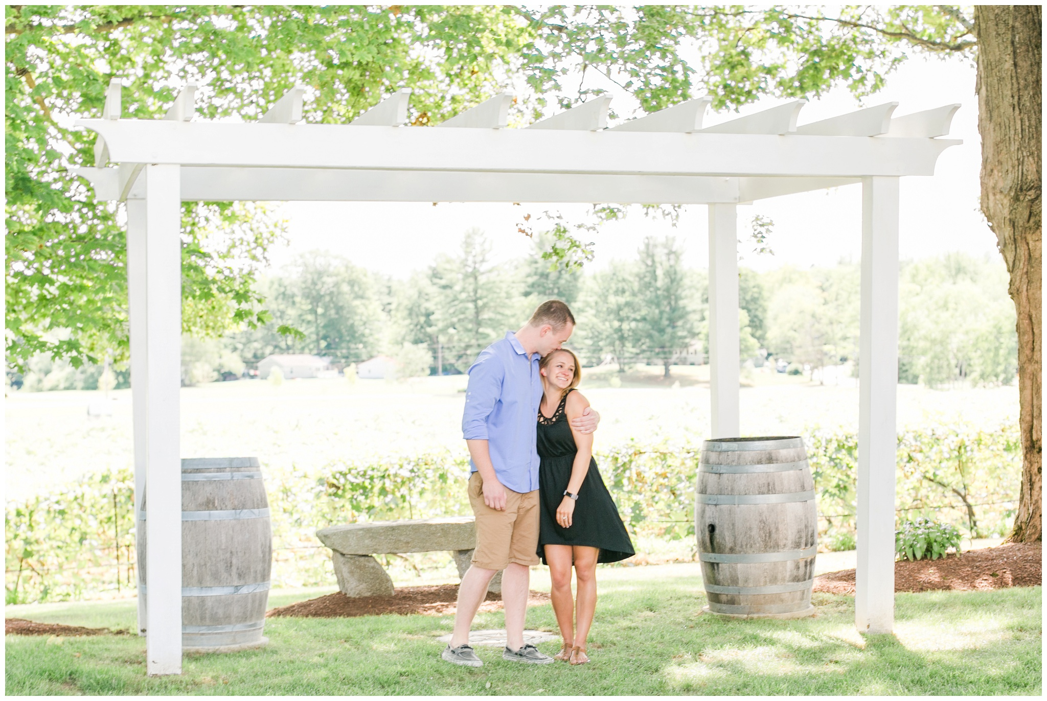 Flag Hill Distillery + Winery + Surprise Engagement Lee, NH