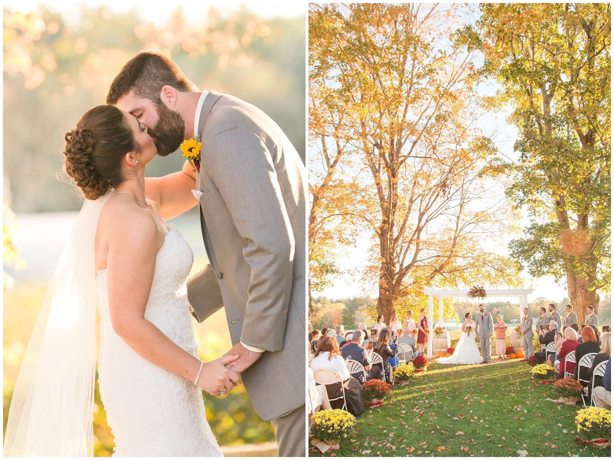 Seacoast NH Wedding Photographer | Flag Hill Winery Wedding | New Hampshire Bride