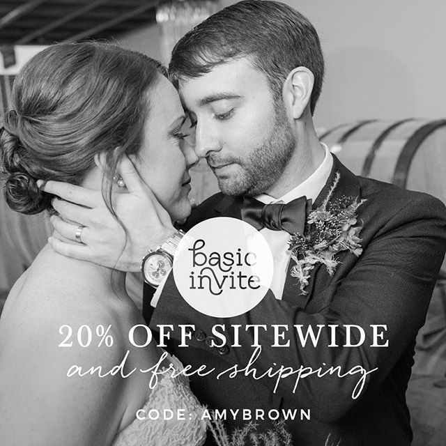 I am so happy to say I have partnered with Basic Invite to offer my amazing clients a great saving. Basic Invite is a beautiful online print company, so make sure to check them out for Save The Dates, Wedding Invitations, Baby Shower Invites and more! #ad #amybrownbrides