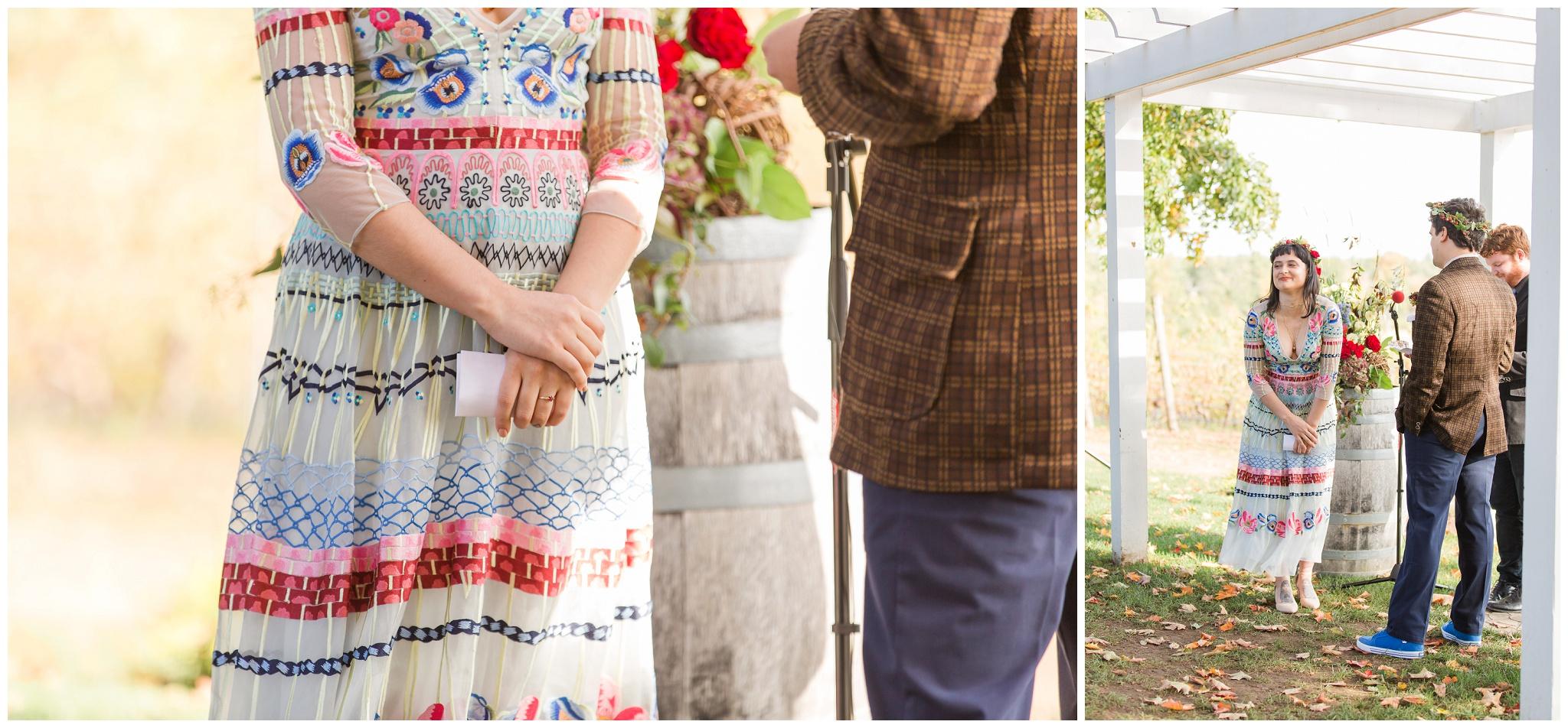 Lee-new-hampshire-wedding-flag-hill-winery-alternative-wedding-dress
