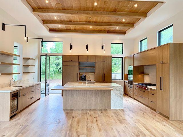 JFD's latest kitchen design. This new ground up is ready for install. . . . #jodiflemingdesign #designbuild #interiordesign #sunvalleylife #kitchendesign #kitchen #modernhomes #contemporaryhomes