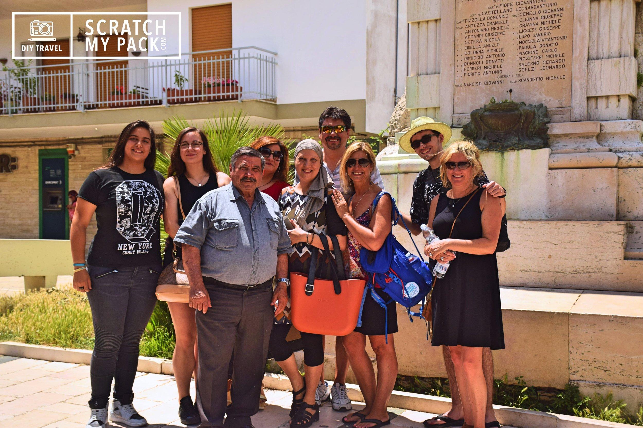 (Left to Right) Giulia, Giulia, Giuseppe, Antonella, Rosa, David, Lisa, Preston, & Jennifer