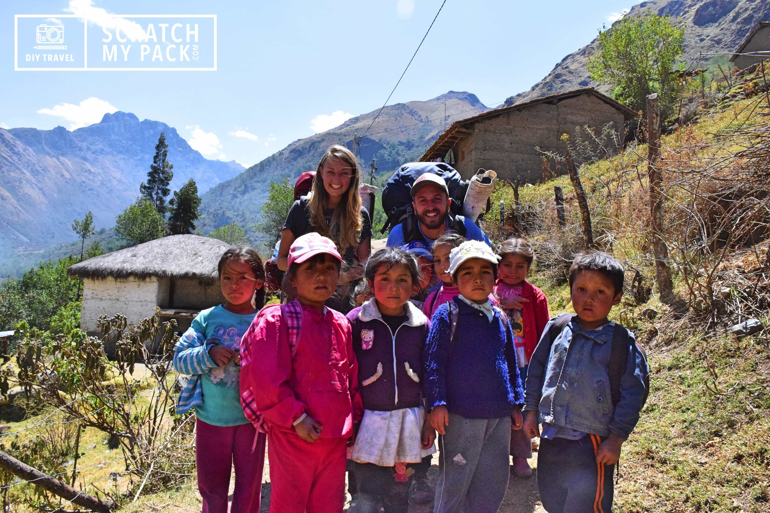 Meeting some local kids on a hike in Peru