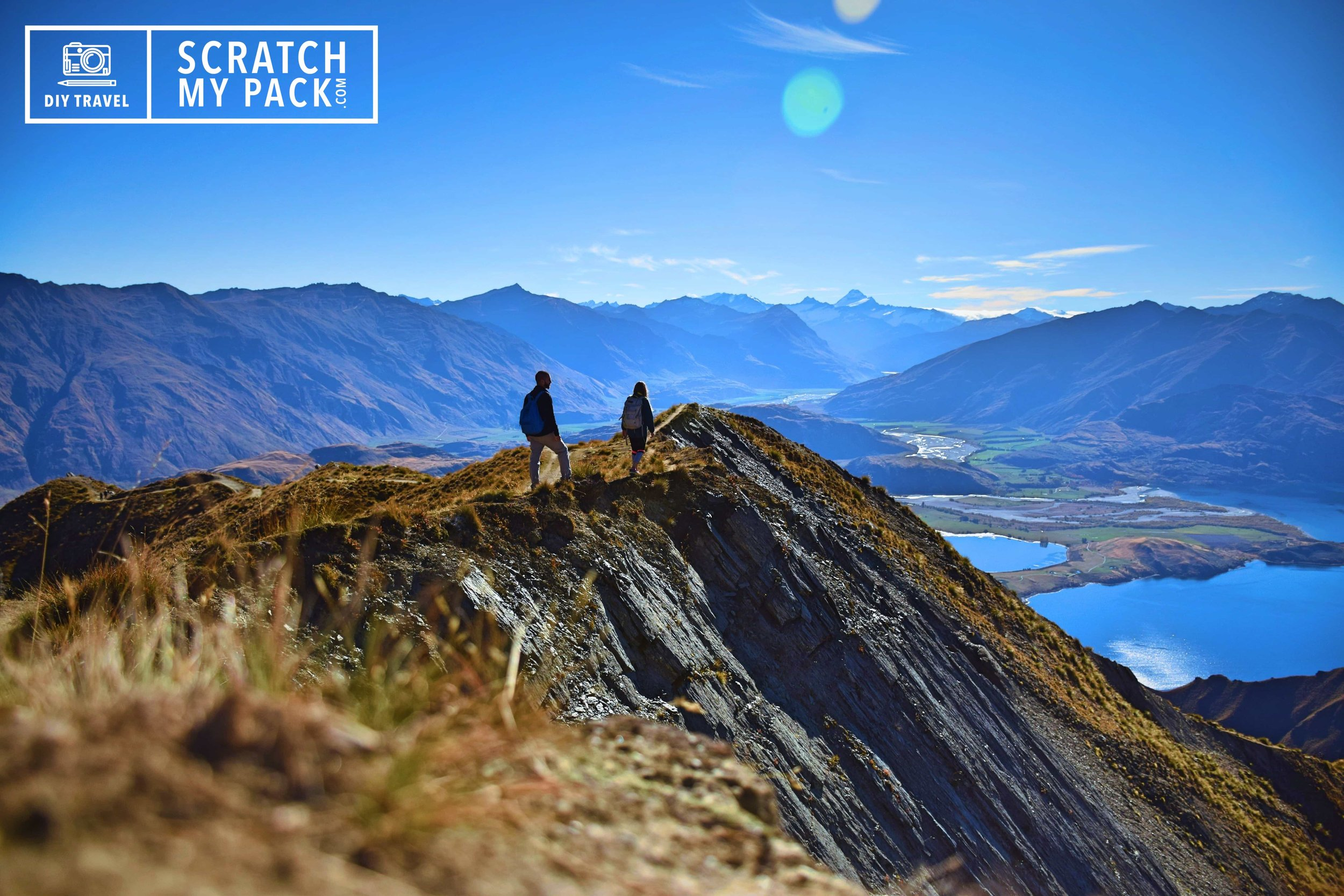 Hiking to the top of Roy's Peak in Wanaka,  New Zealand