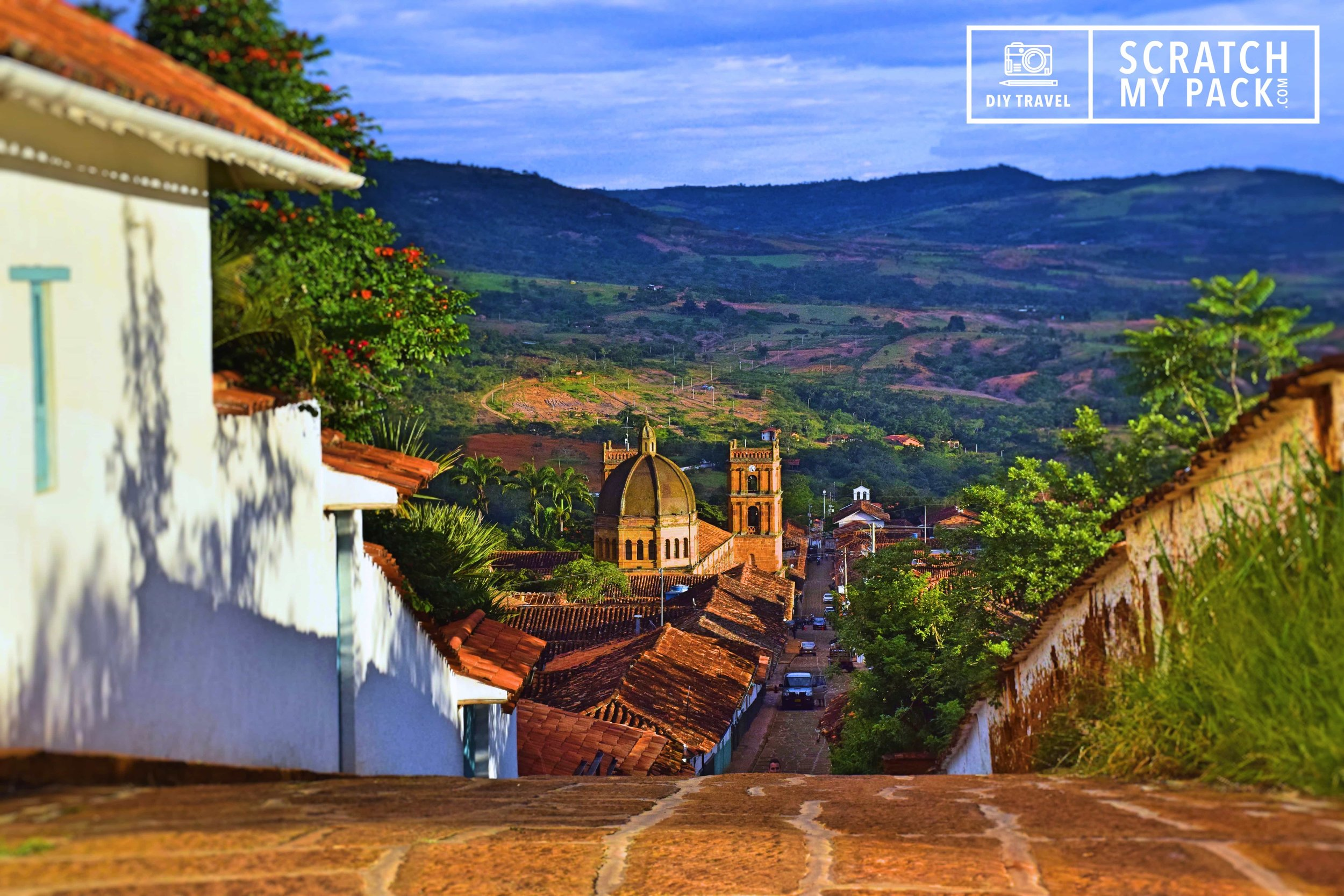The amazing streets of Barichara,  Colombia