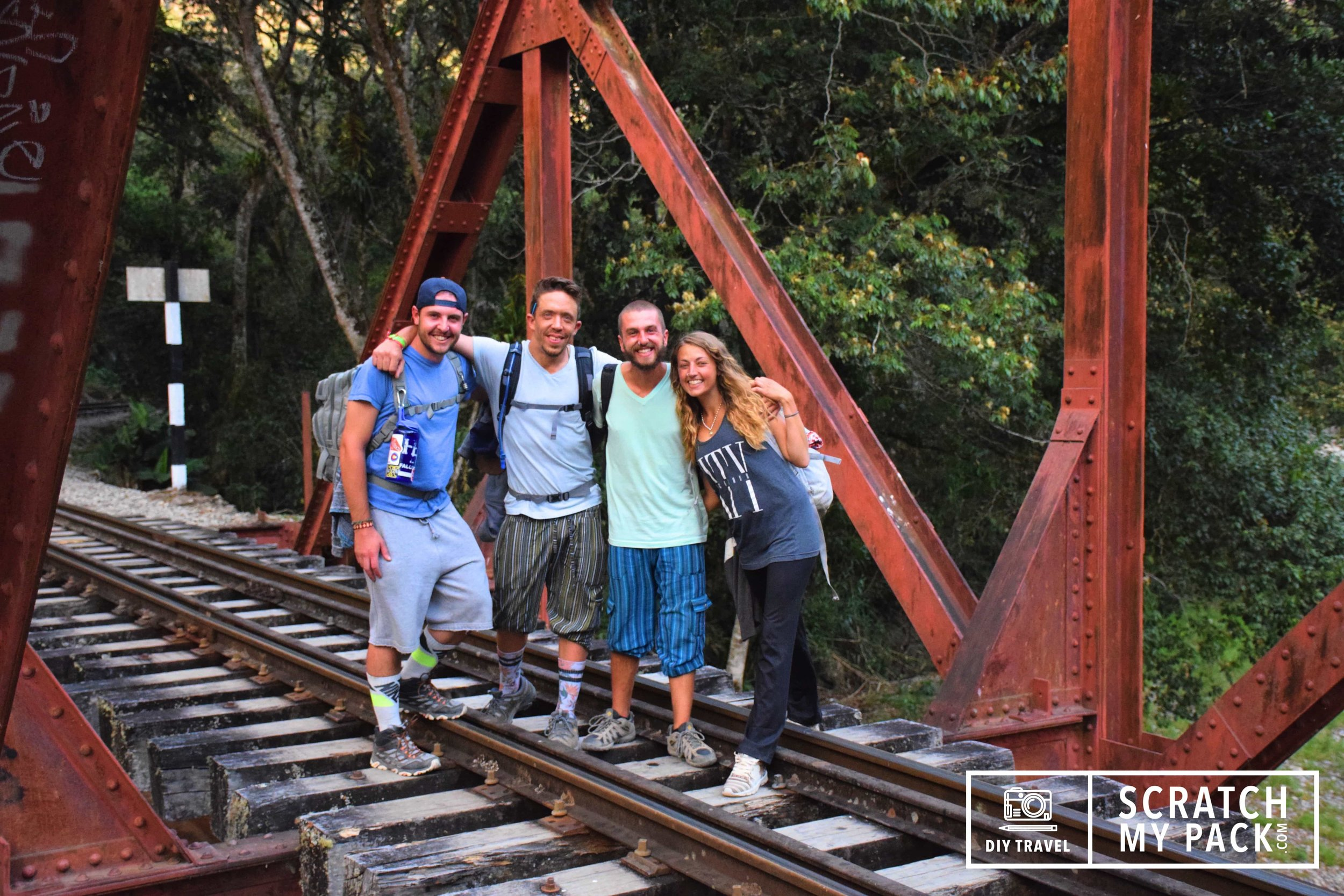 Walking the train tracks to Aguas Calientes from Hidroelectrica