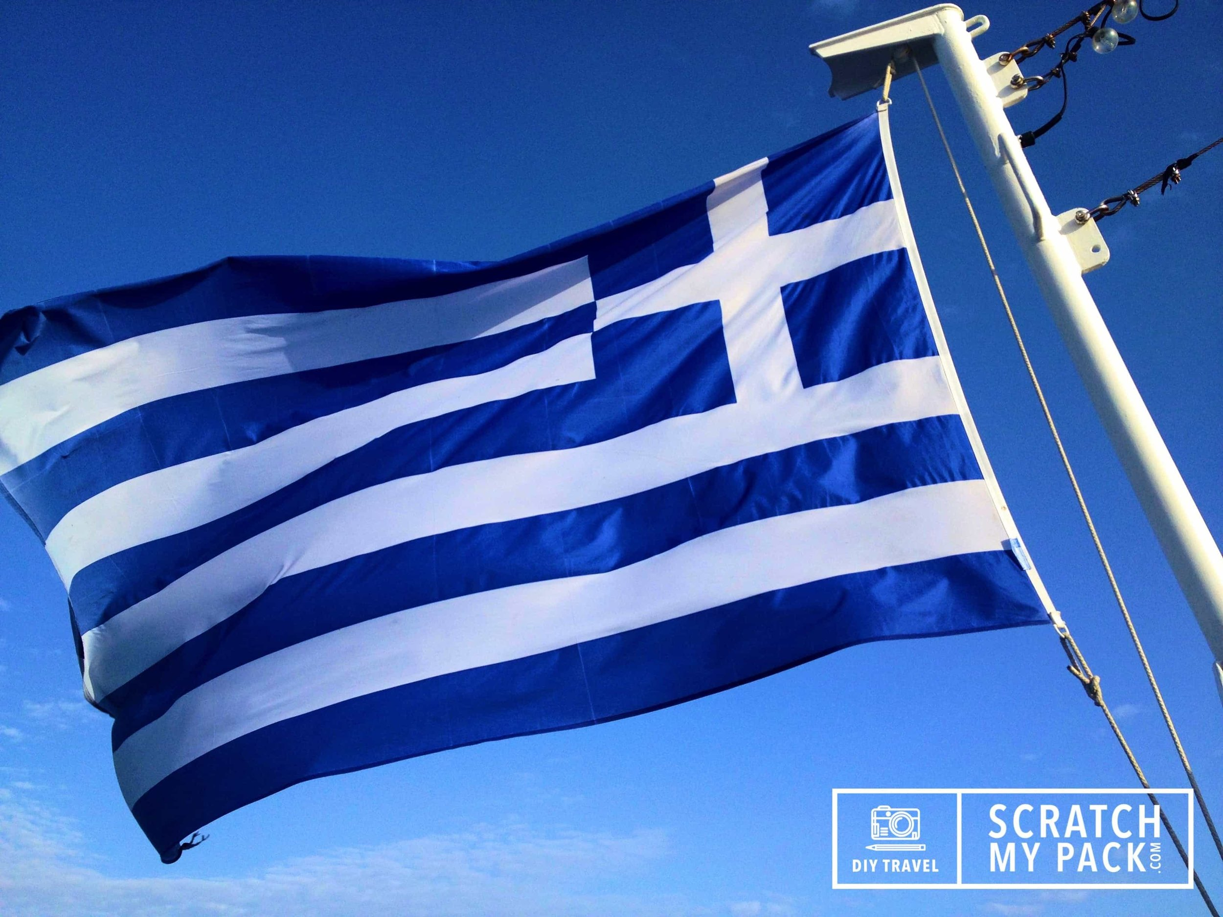 The National of Flag Greece