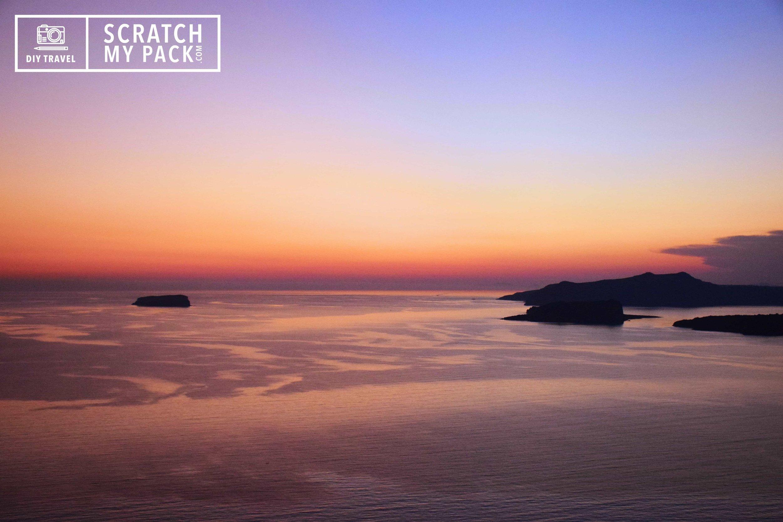 Sunset view over the caldera, Santorini