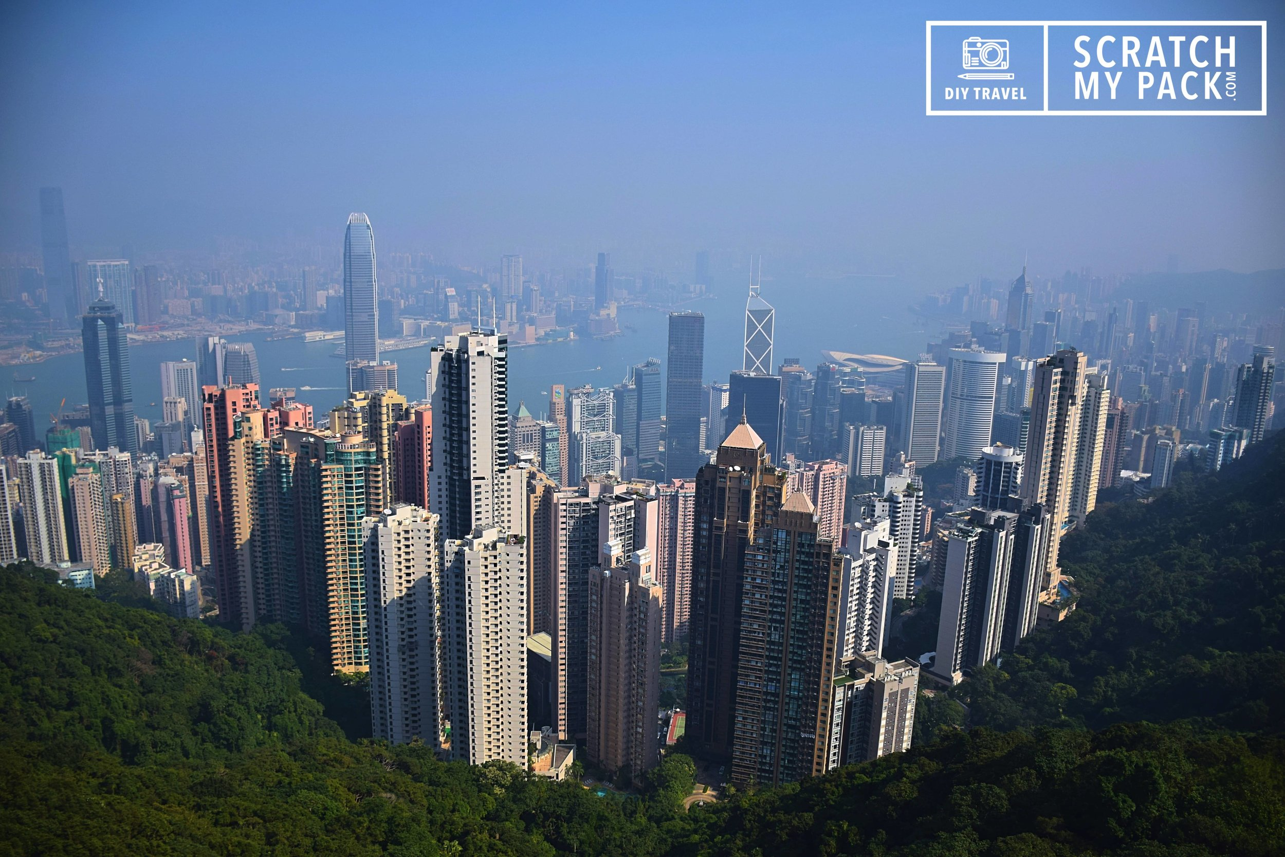 A view of Hong Kong from Sky Terrace 428