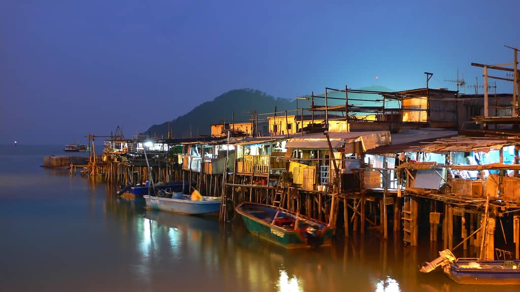 """Tai O  - Also known as the """"Venice of Hong Kong"""", Tai O is a tourist spot for both foreigners and residents of other parts of Hong Kong. The p ang uks , a kind of stilt house, built right over the waterway are still quite scenic. For a small fee, some residents will take tourists out on their boats along the river and for short jaunts into the sea"""
